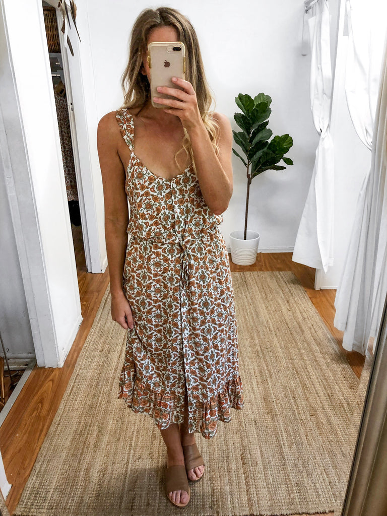 Indian Summer Midi Dress – About a Girl