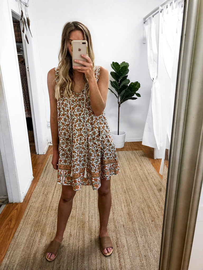 Indian Summer Tunic Dress – About a Girl