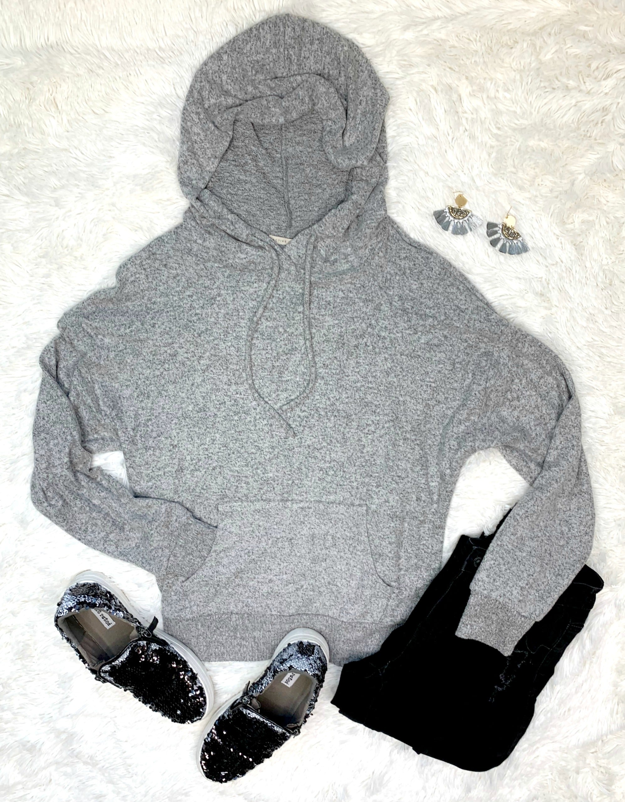 Lazy Sunday Hooded Pullover Sweater