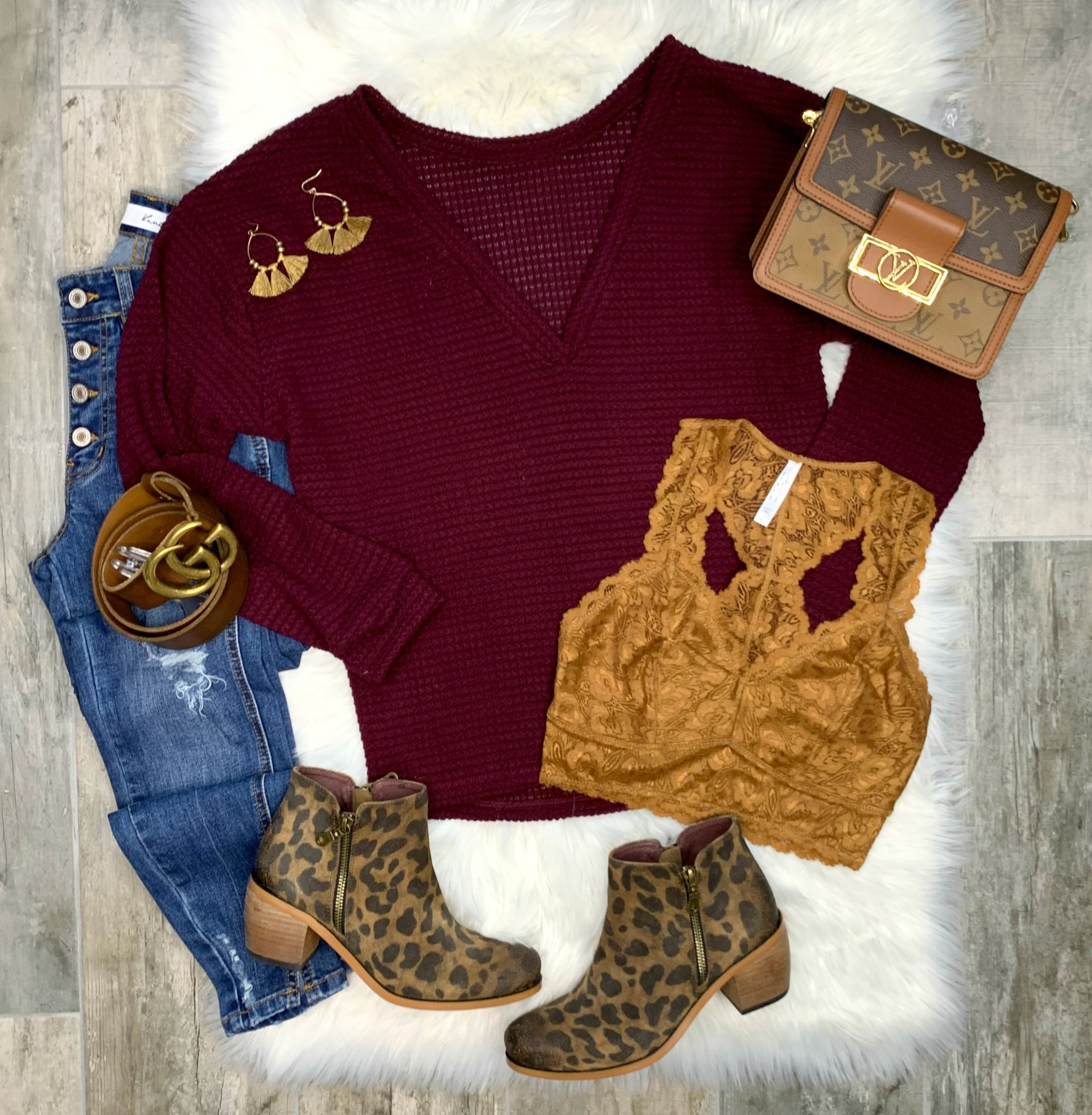 Pace Yourself Sweater - Burgundy