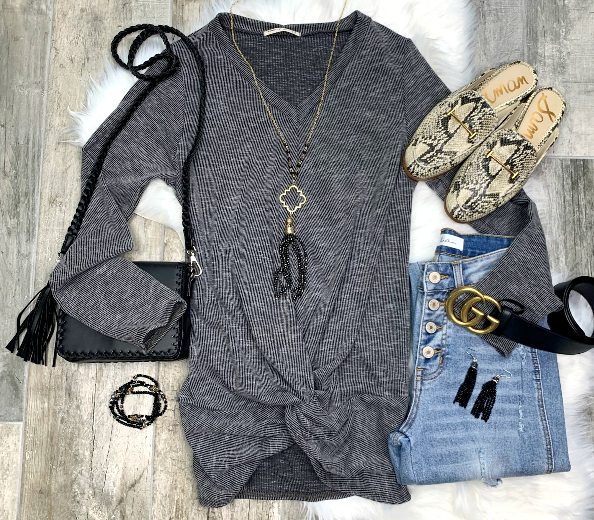 Just Like a Dream V Neck Top