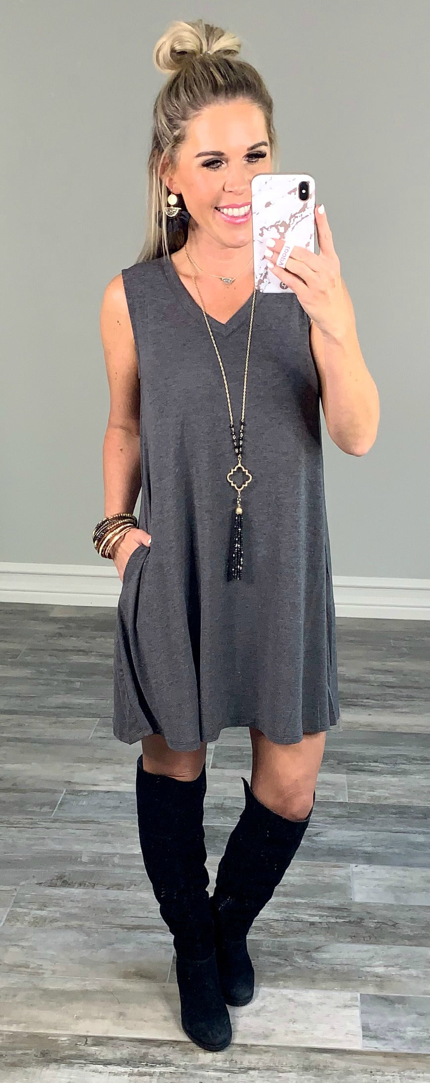 Just Recreational Charcoal Dress