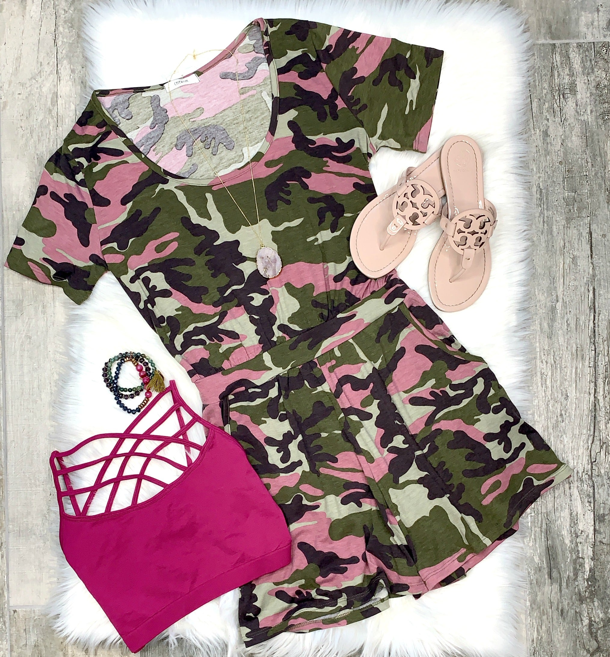 On the Hunt for Love Camo Romper