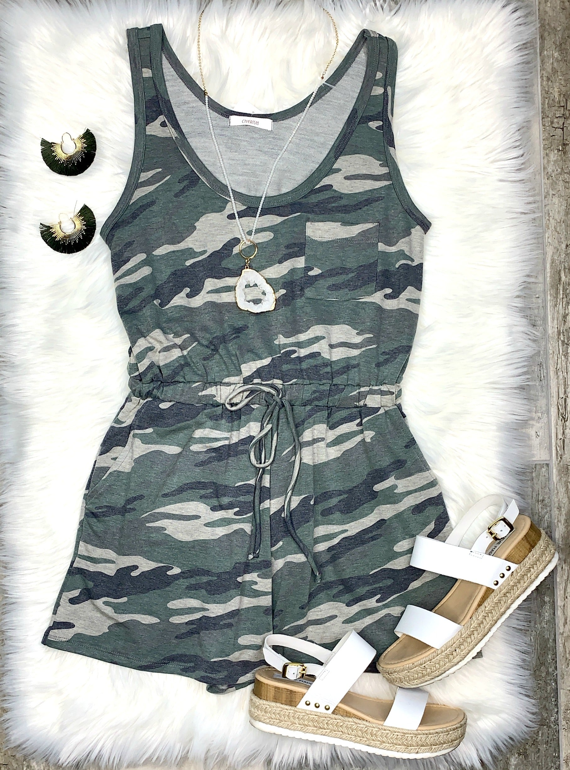 Command Attention Camo Romper