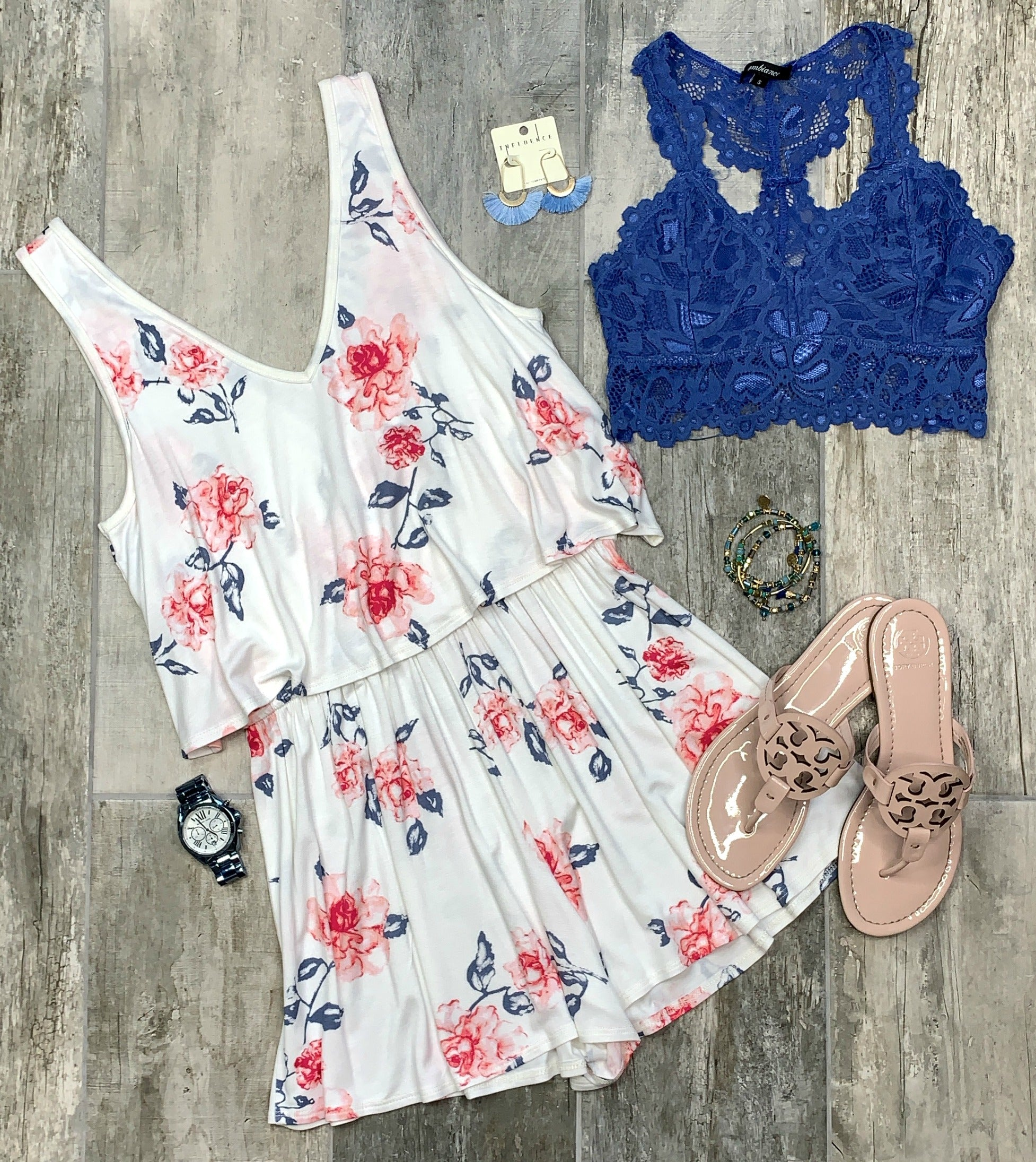So Fond of Florals Romper