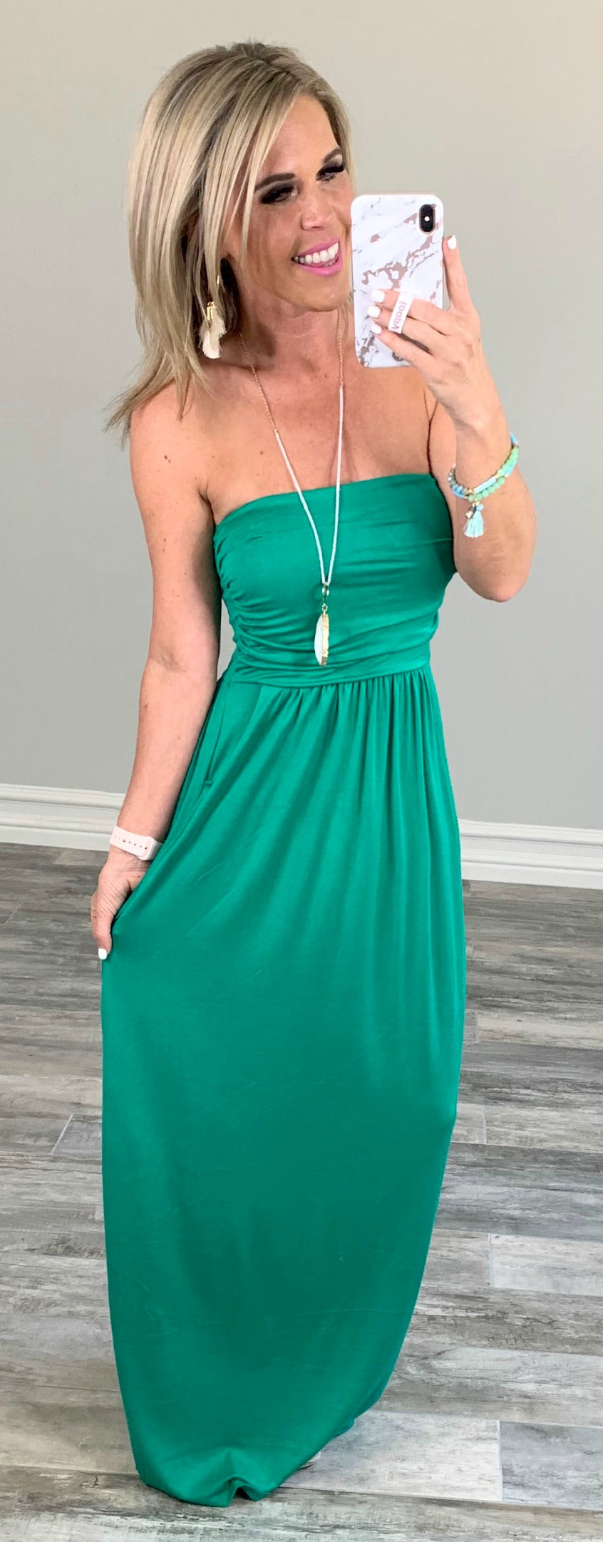 Your so Classic Pocket Maxi Dress - Green