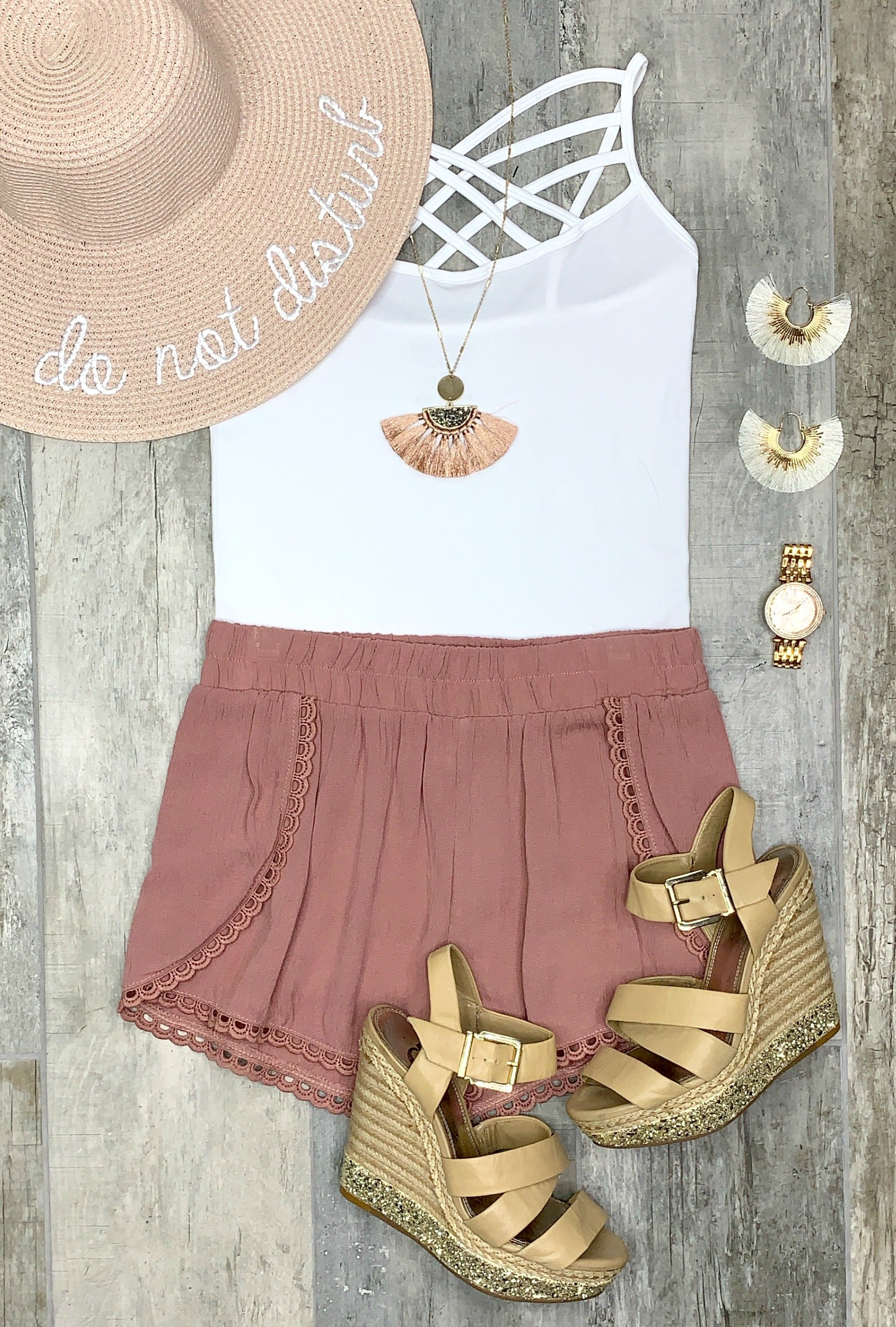 Summer Shorts - Rose