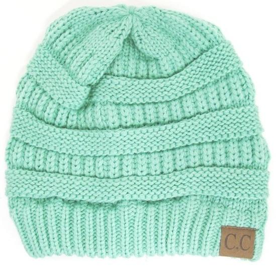 Slouchy Melange Knit Beanie: Multiple Colors