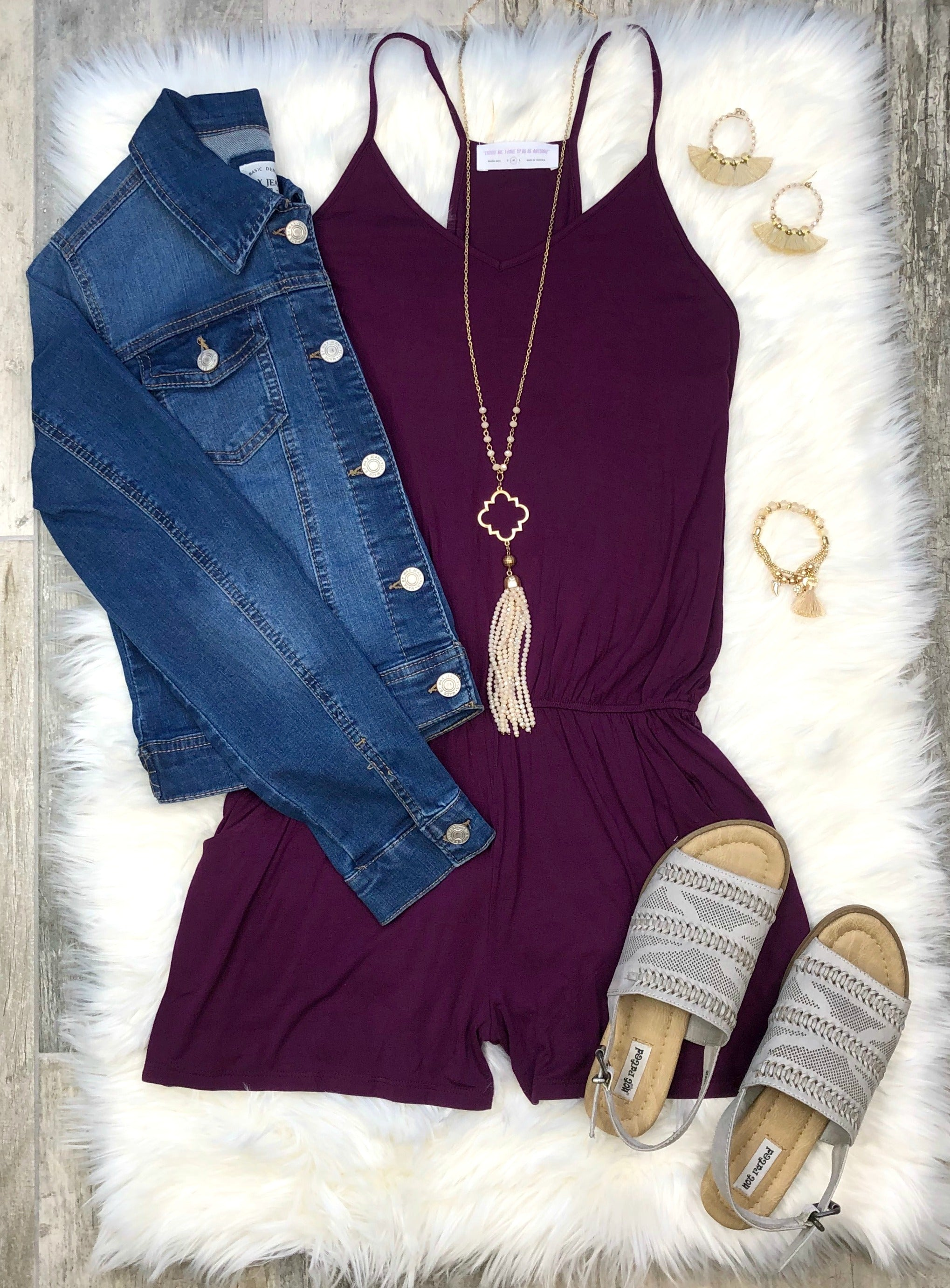 Passion for Plum Romper