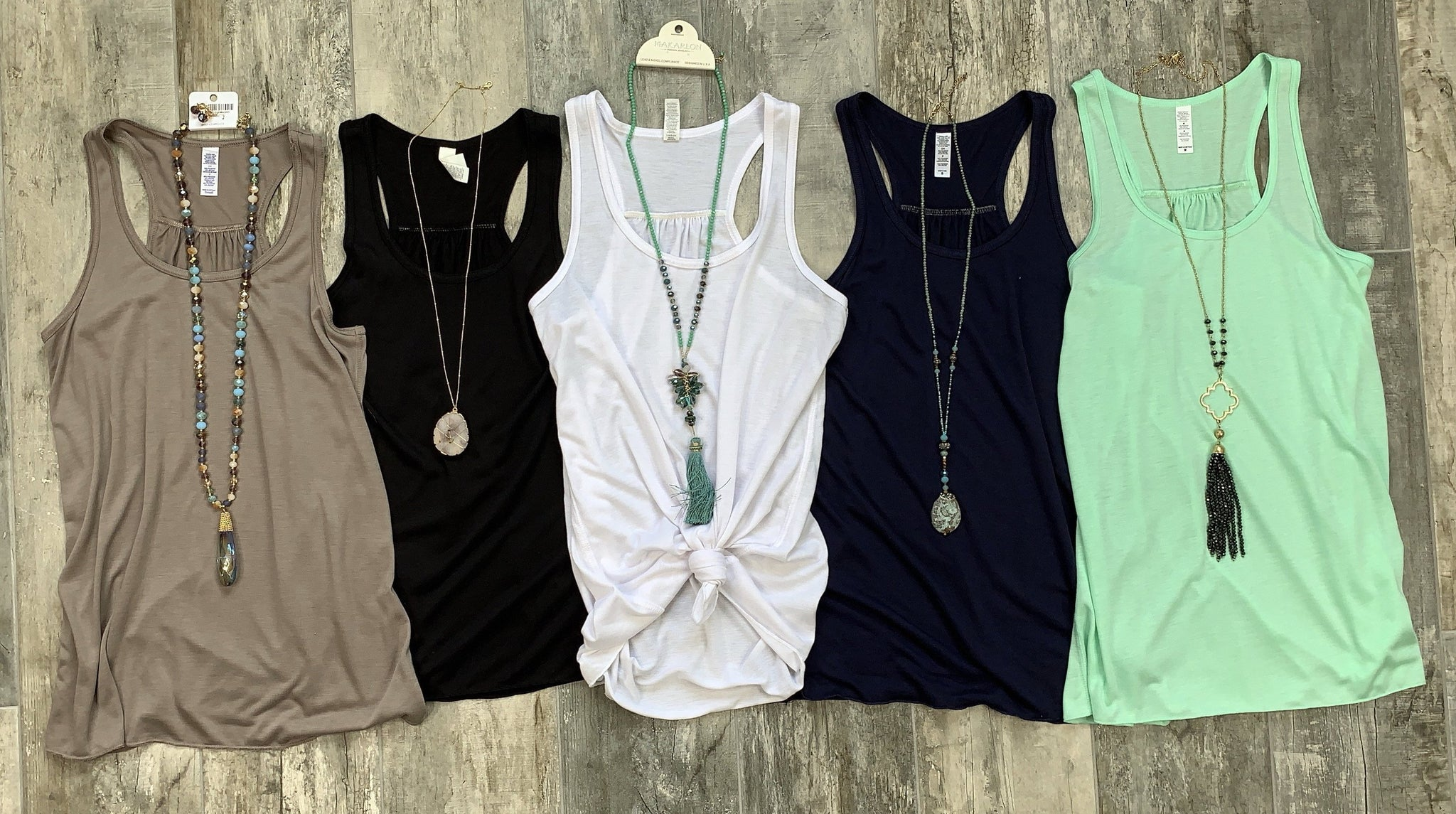 Basic Racerback Tank: Multiple Colors