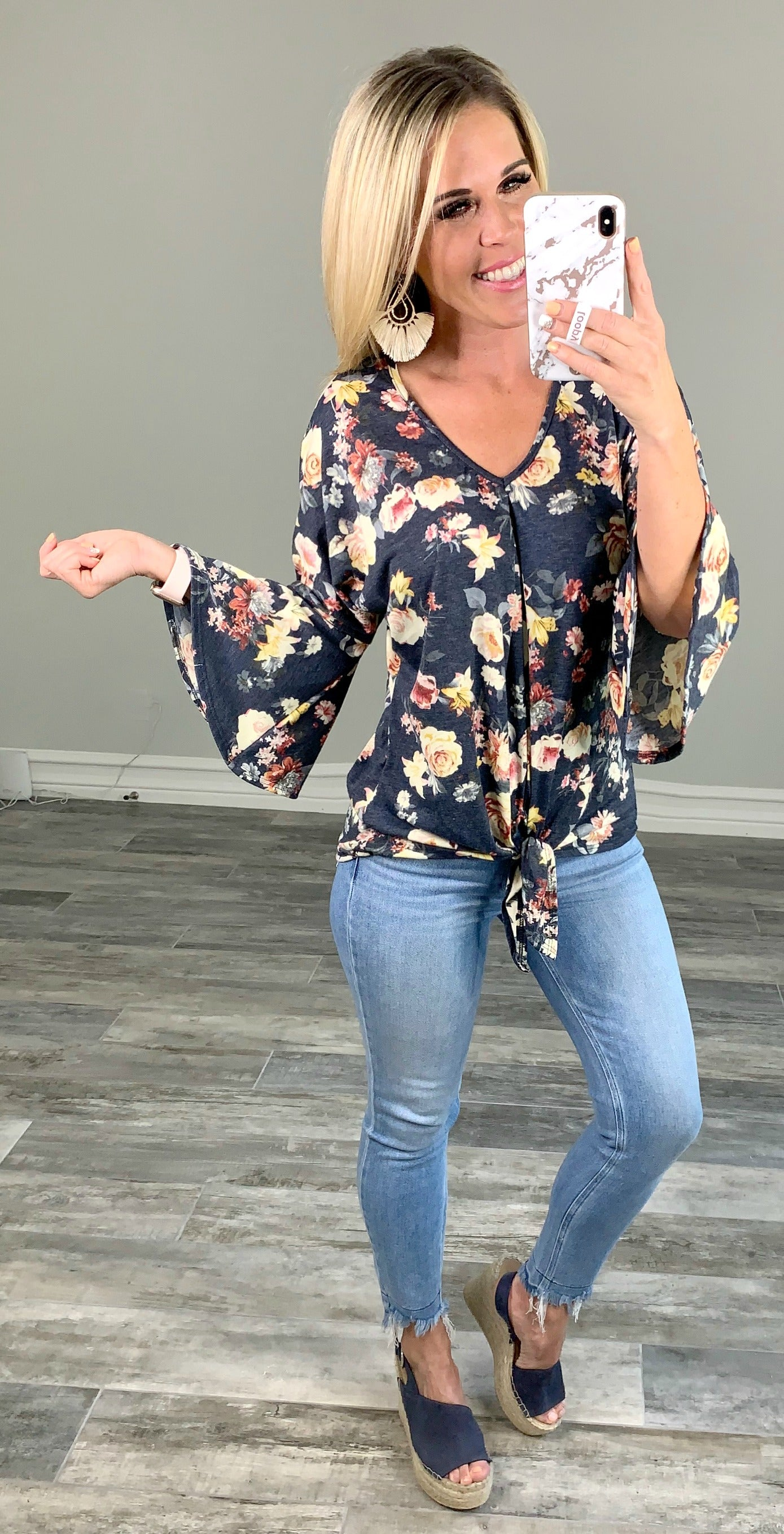 On the Border Floral Top