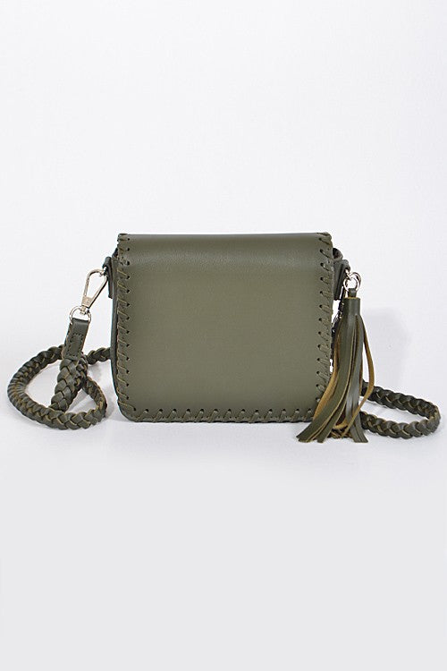 Dream on Black Cross Body Bag