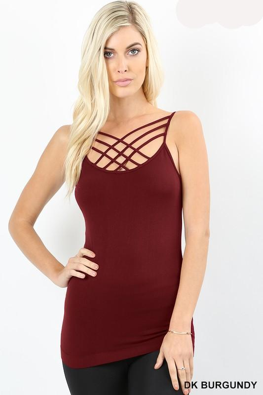 Caged Cami: Multiple Colors