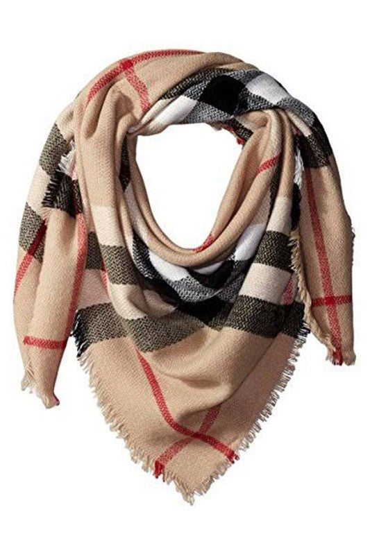 All Wrapped Up Plaid Blanket Scarf