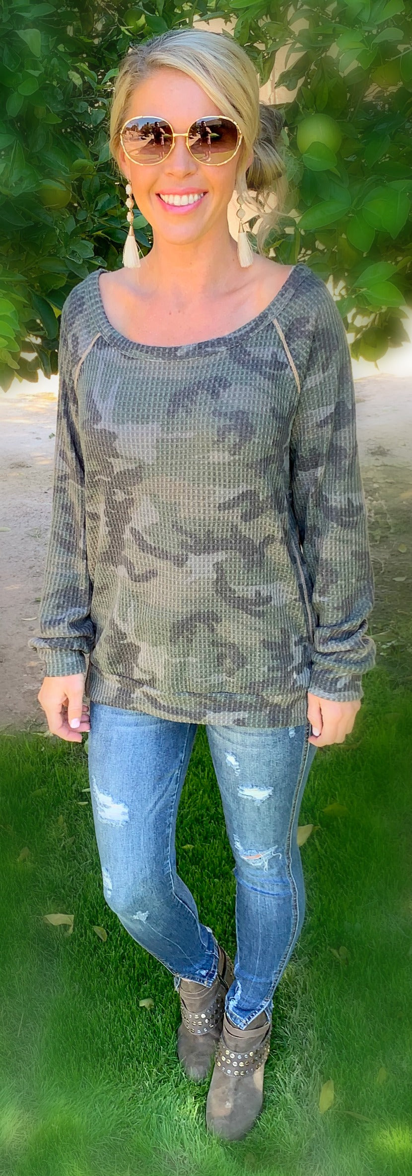 When Your With Me Camo Top