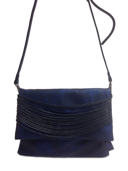 Just Zip It Cross Body Clutch: Blue