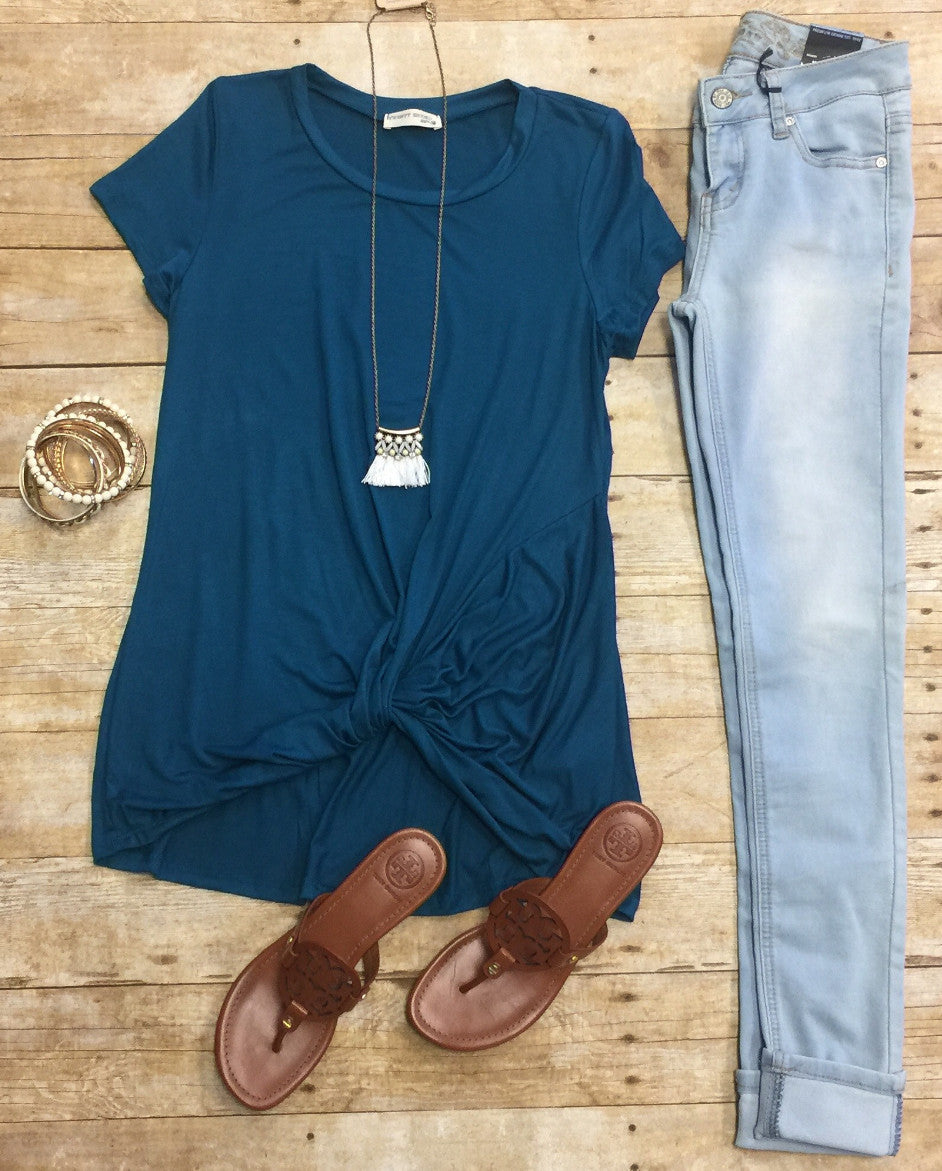 Knotted Top: Teal