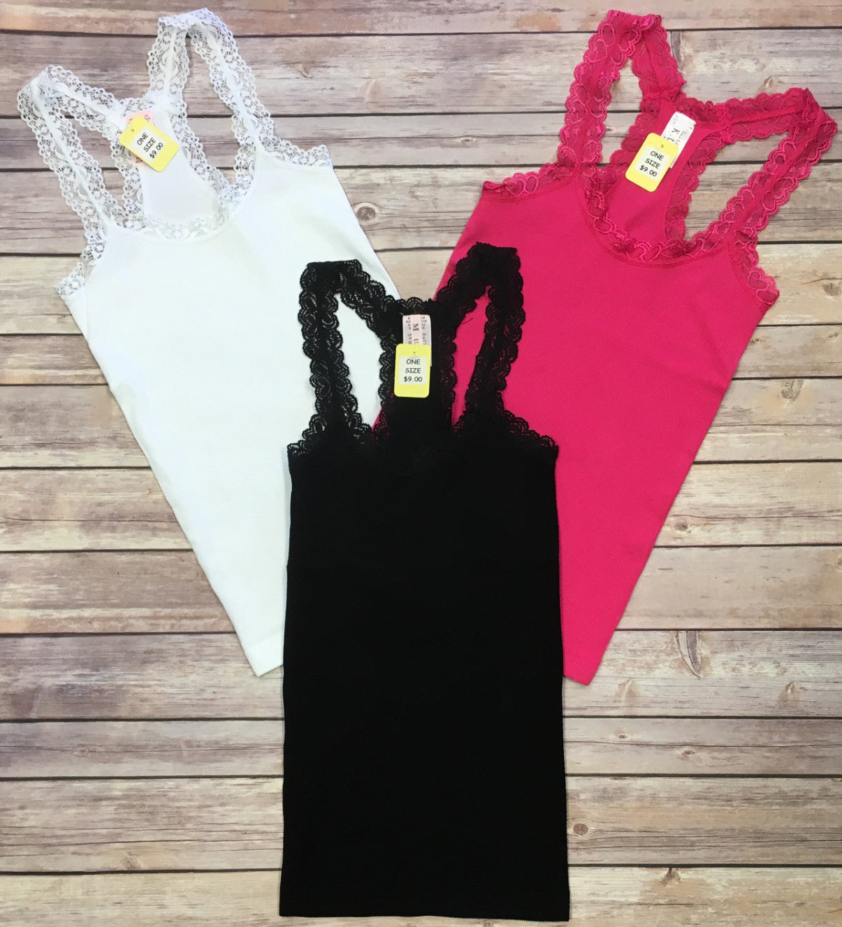 Ribbed Lace Basic Tank