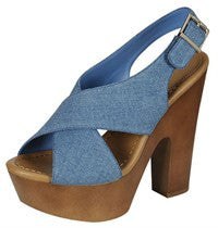 Denim Wedge
