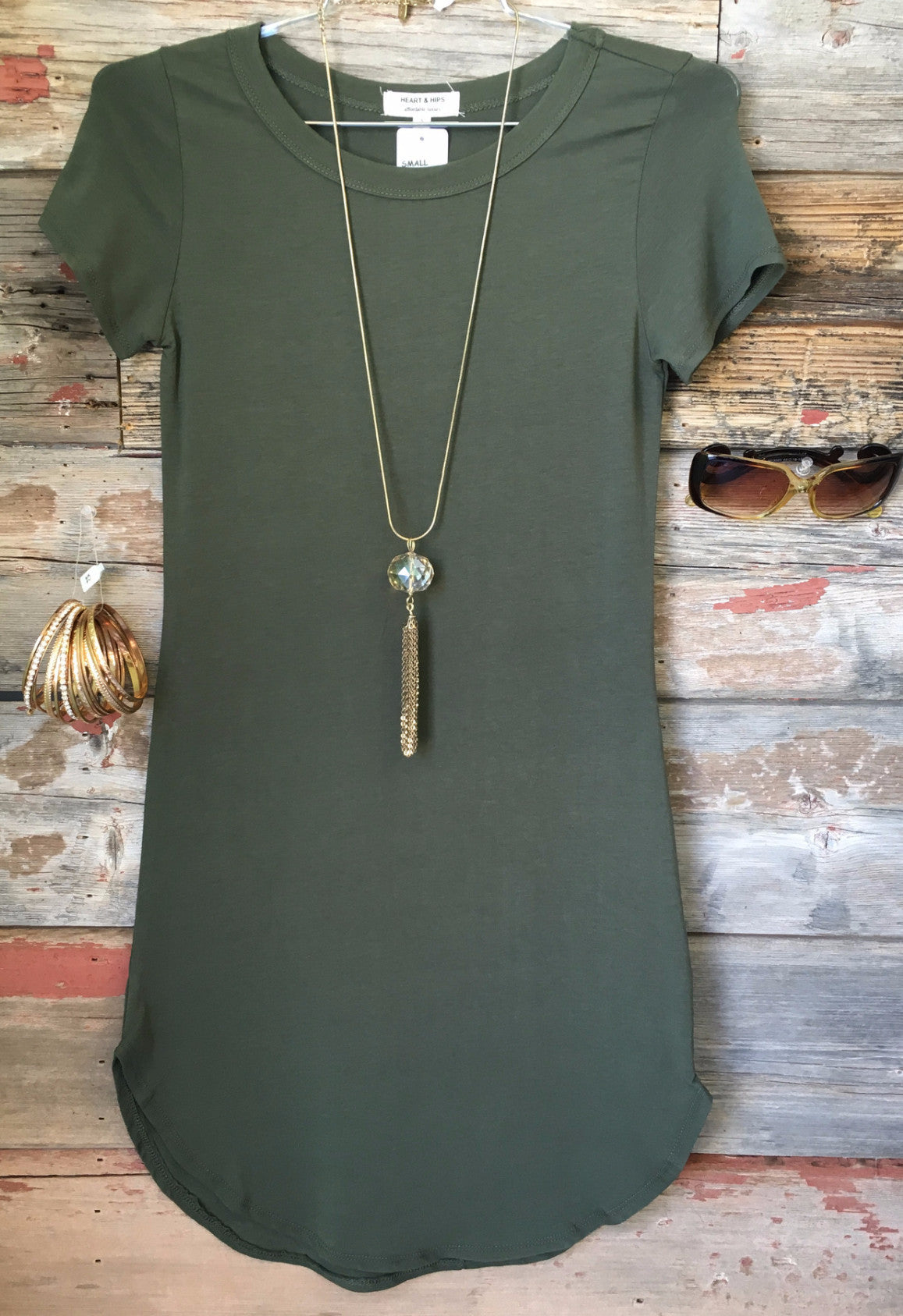 Fun in the Sun Tunic Dress: Olive