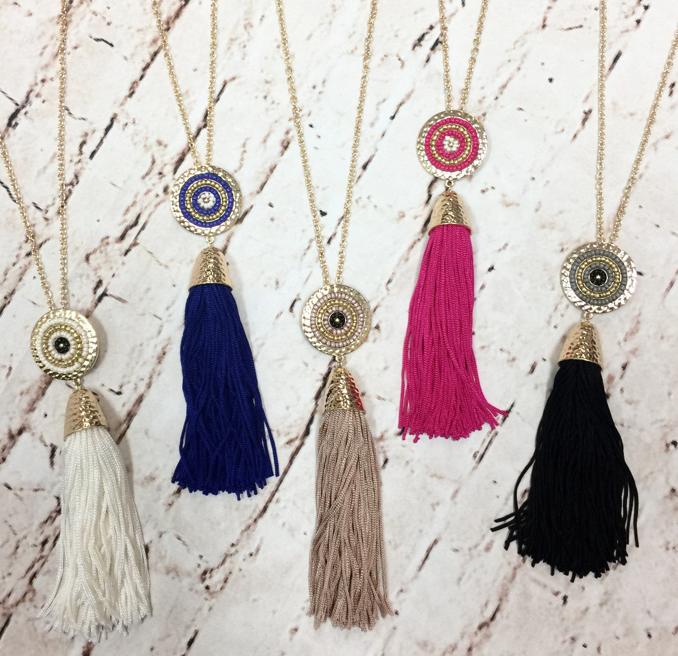 All About Us Tassel Necklace: Multiple Colors