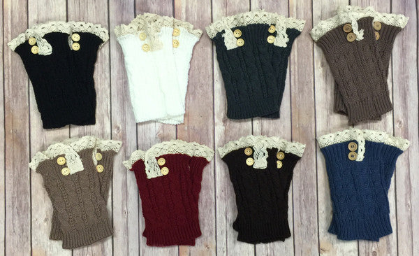 With a Twist Boot Cuffs: Multiple Colors