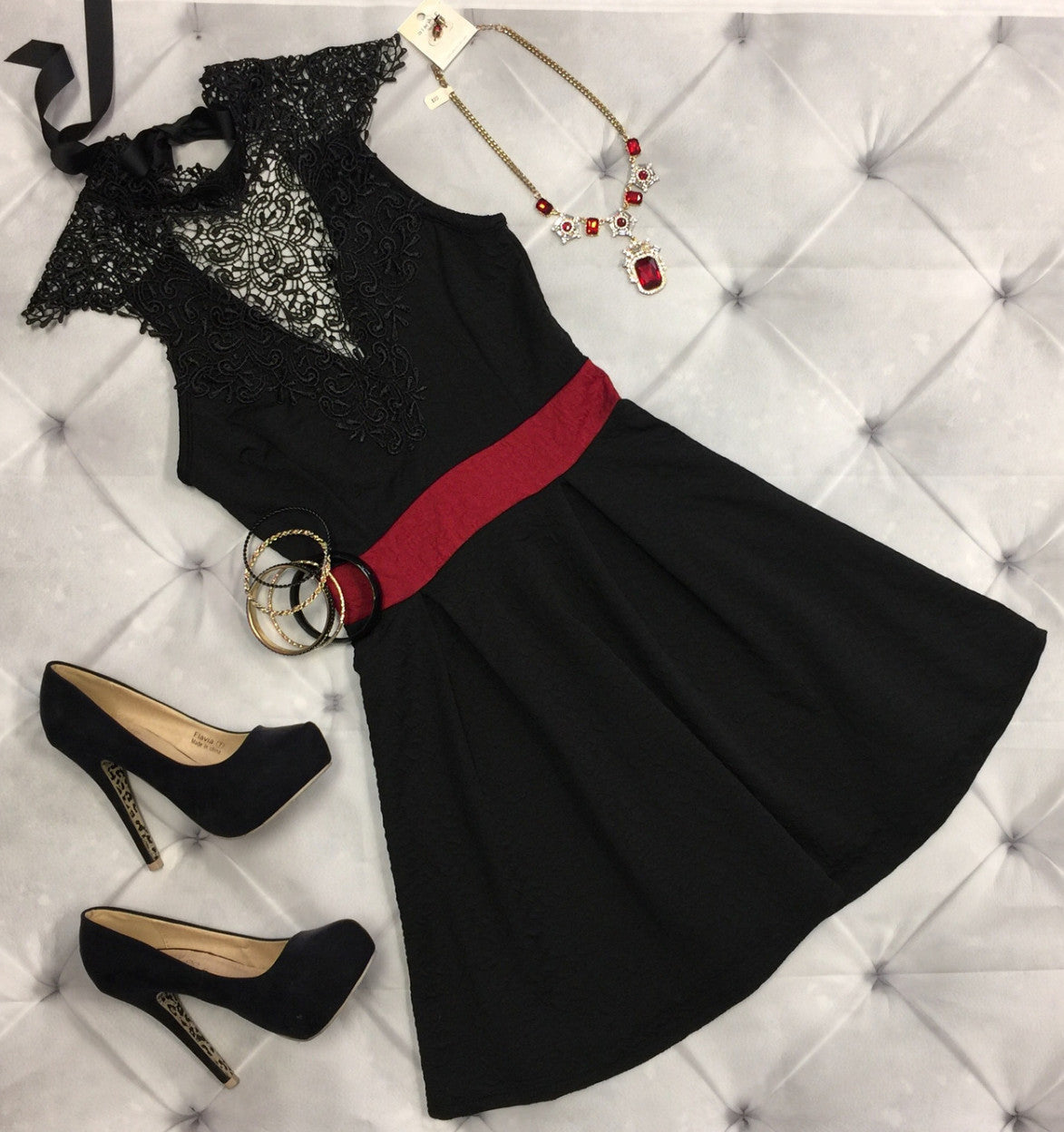 Symptoms of Love Dress: Black