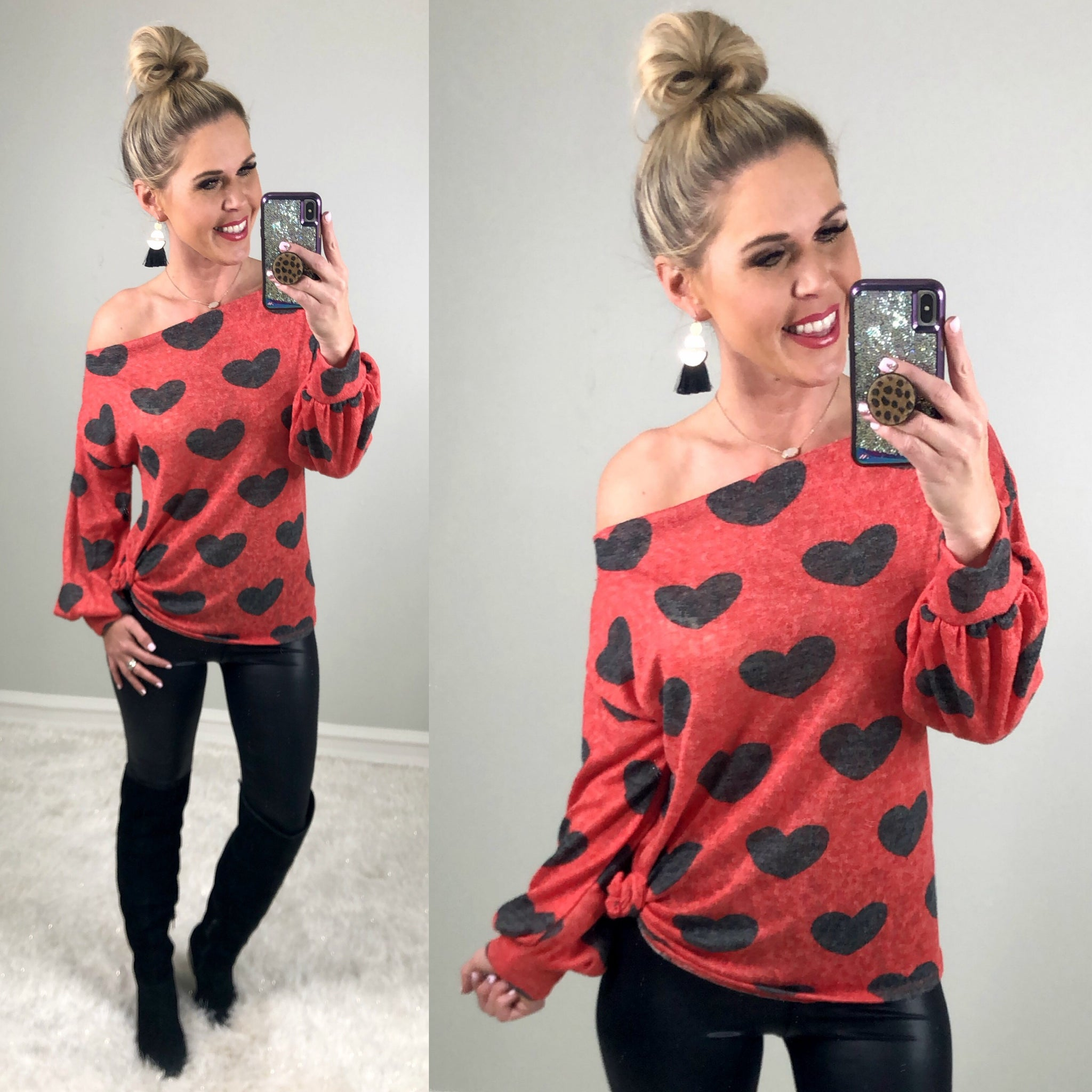 Feel the Love Sweater: Red