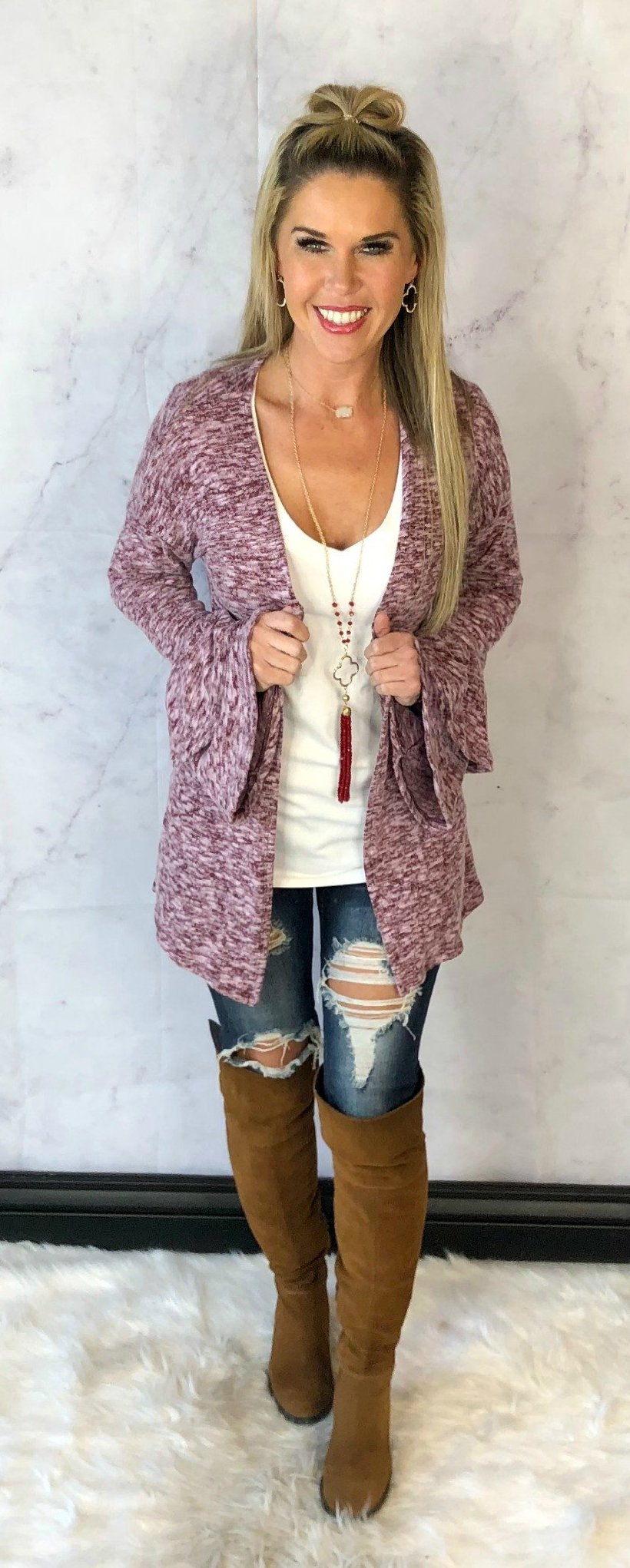 Ruffled Up Cardigan