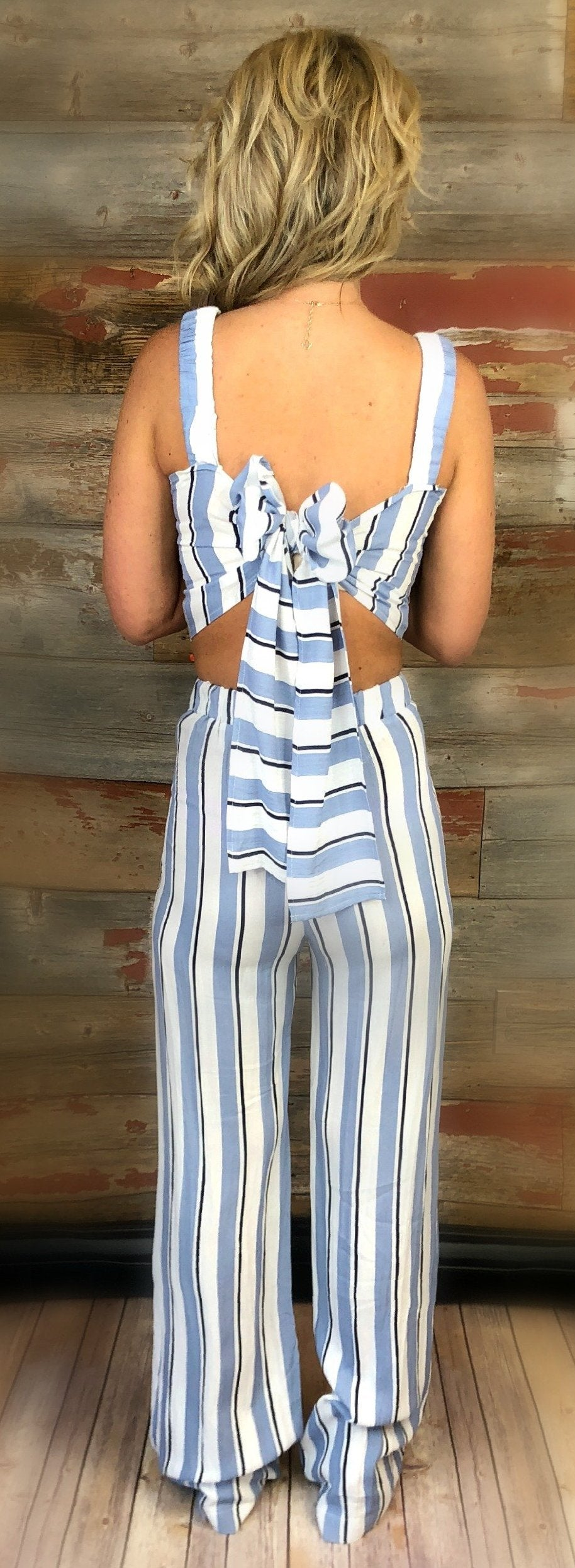This is for You Striped Two-Piece Set