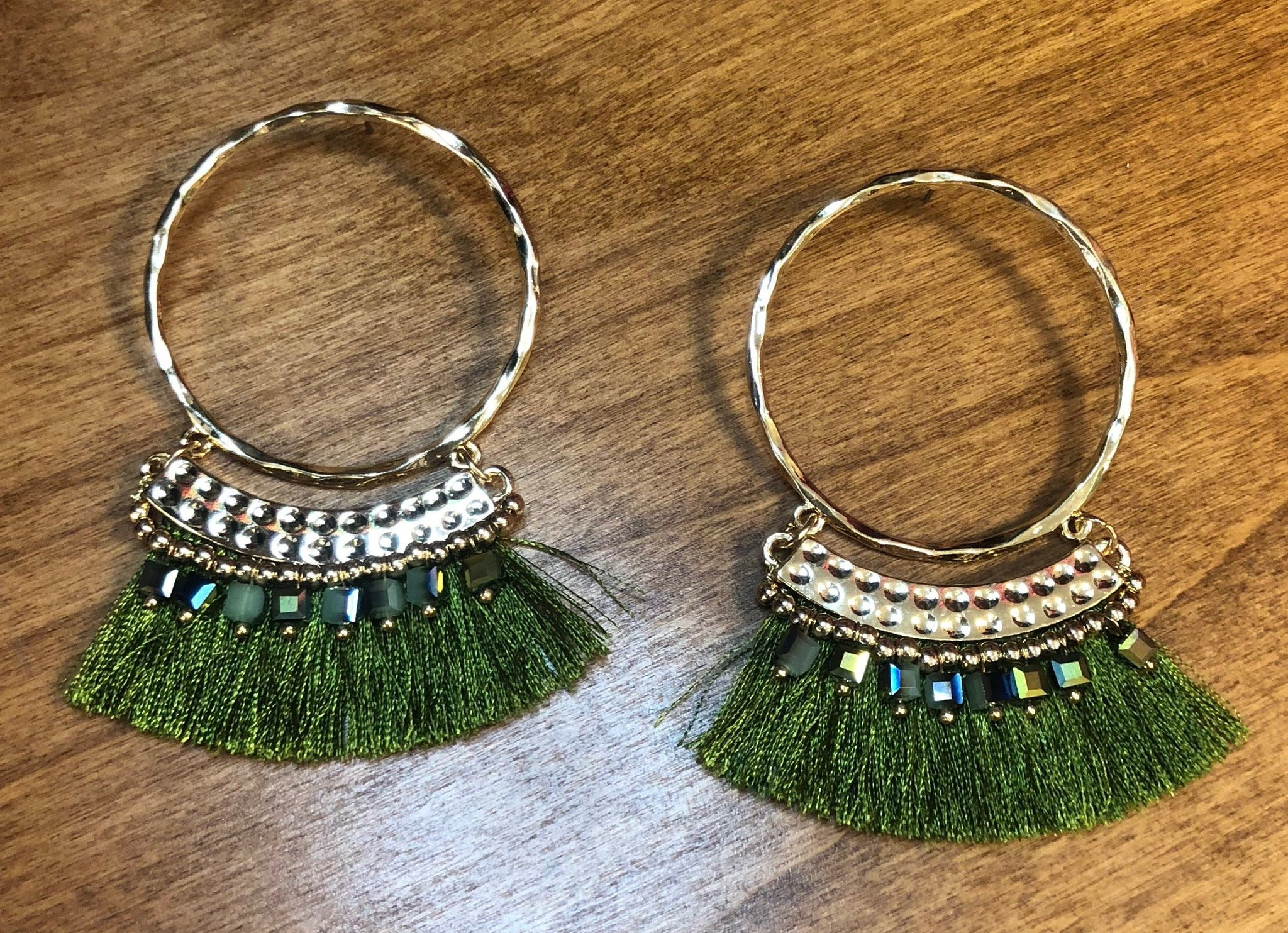 Worth it All Tassel Earrings: Olive
