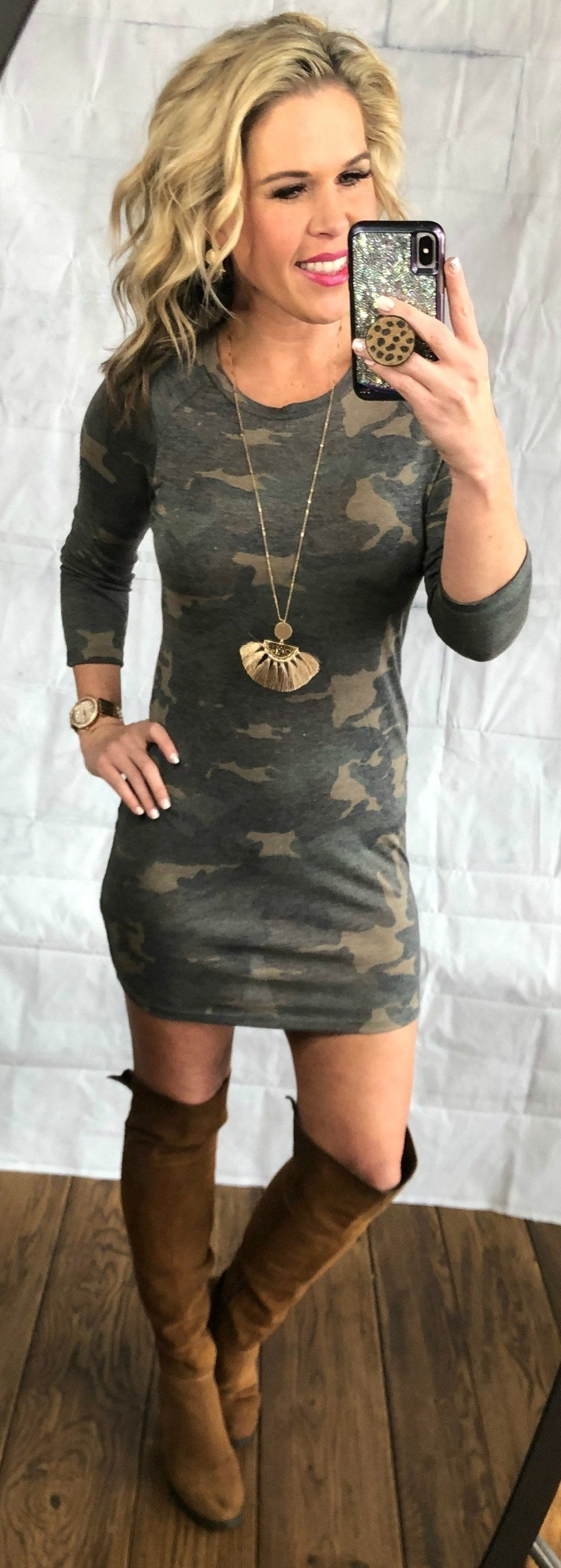 Caught Up In Camo Dress