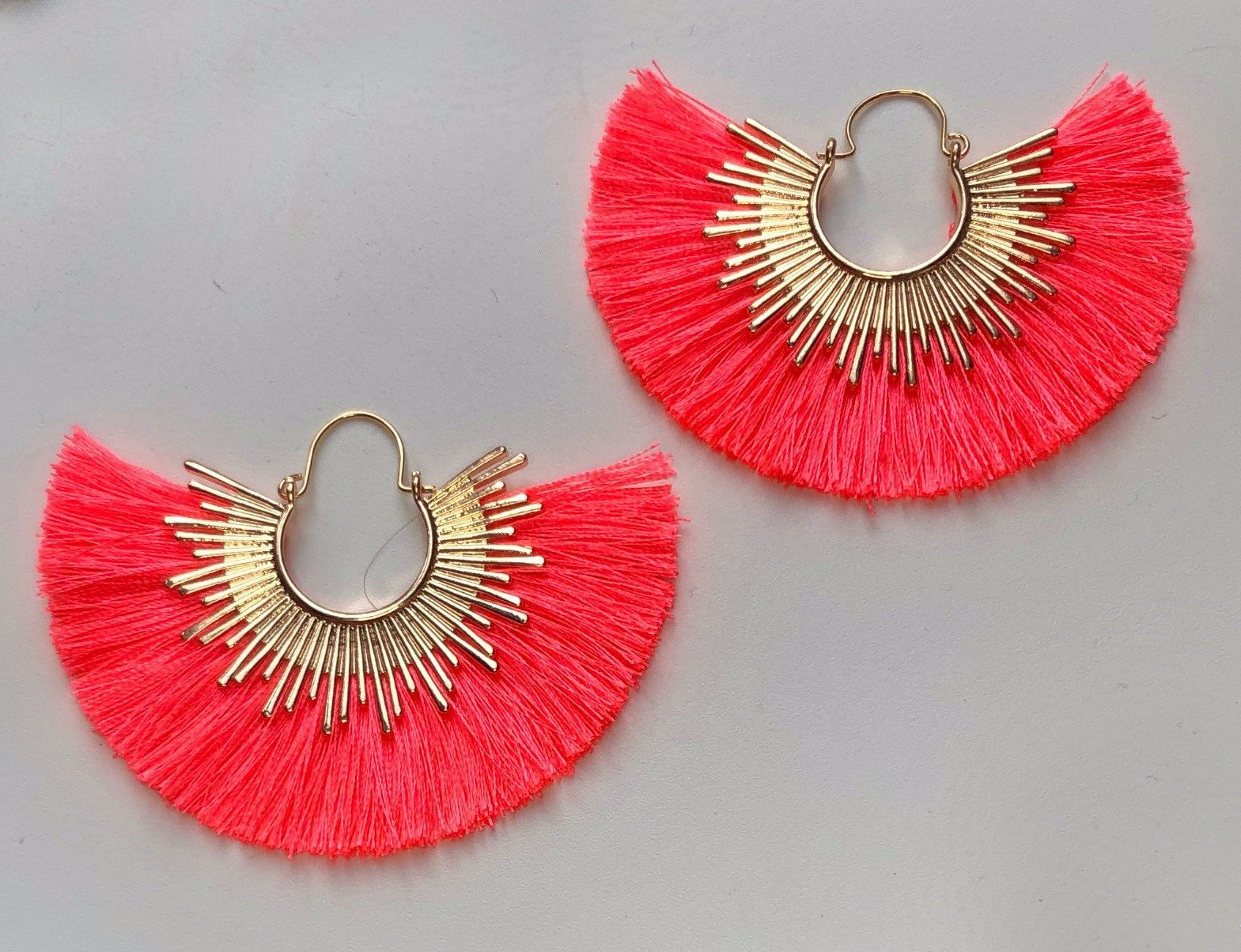 Bold Decision Earrings, Hot Pink