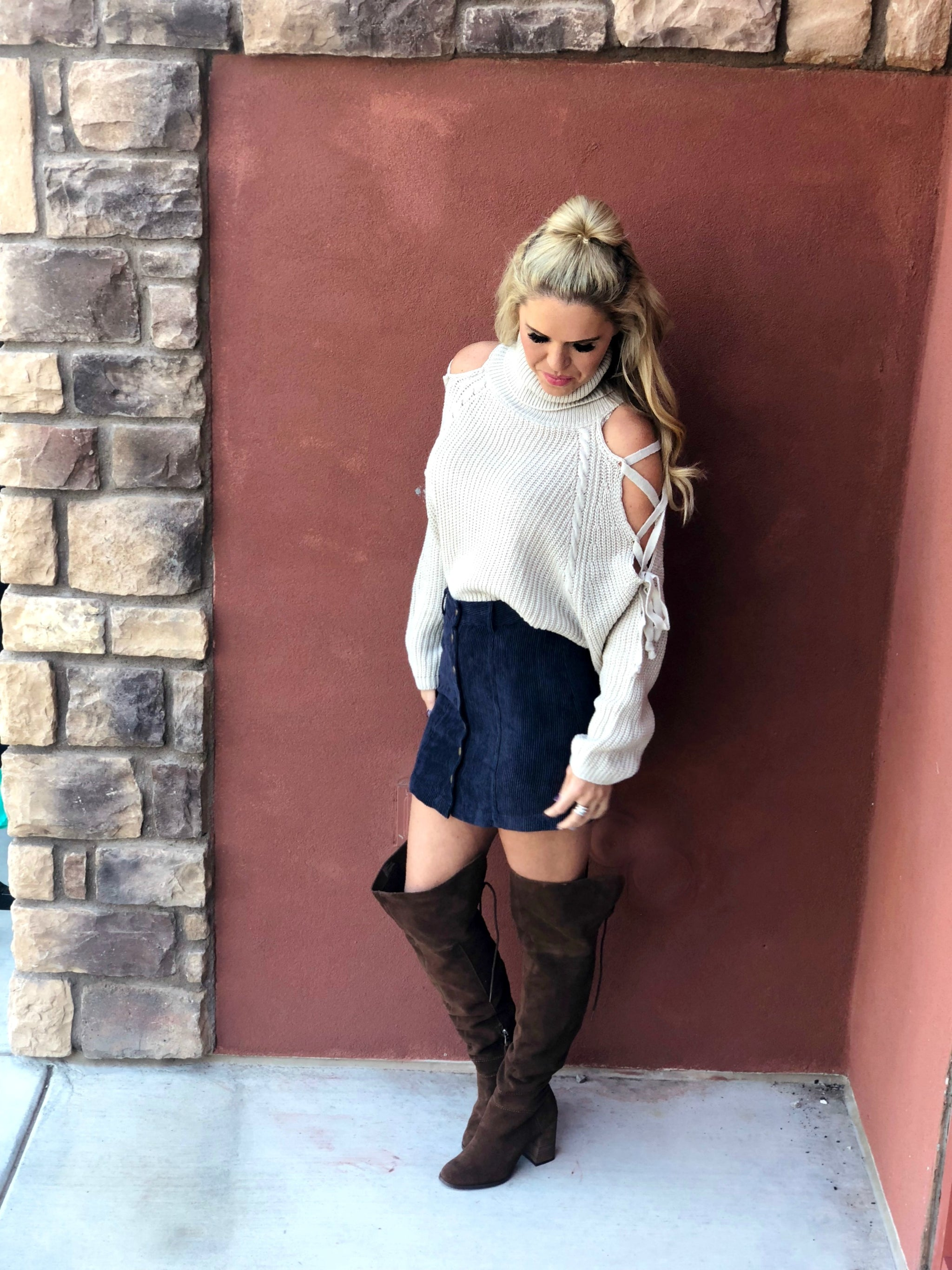 Feeling Fall Cropped Sweater Top