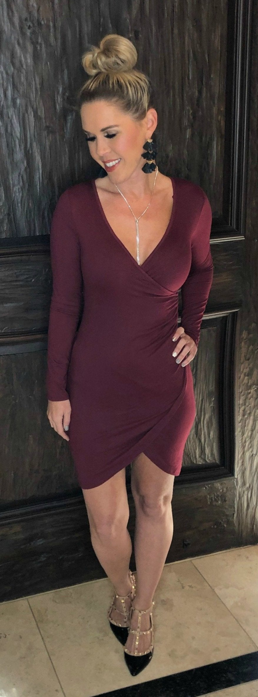 Night To Remember Dress: Burgundy