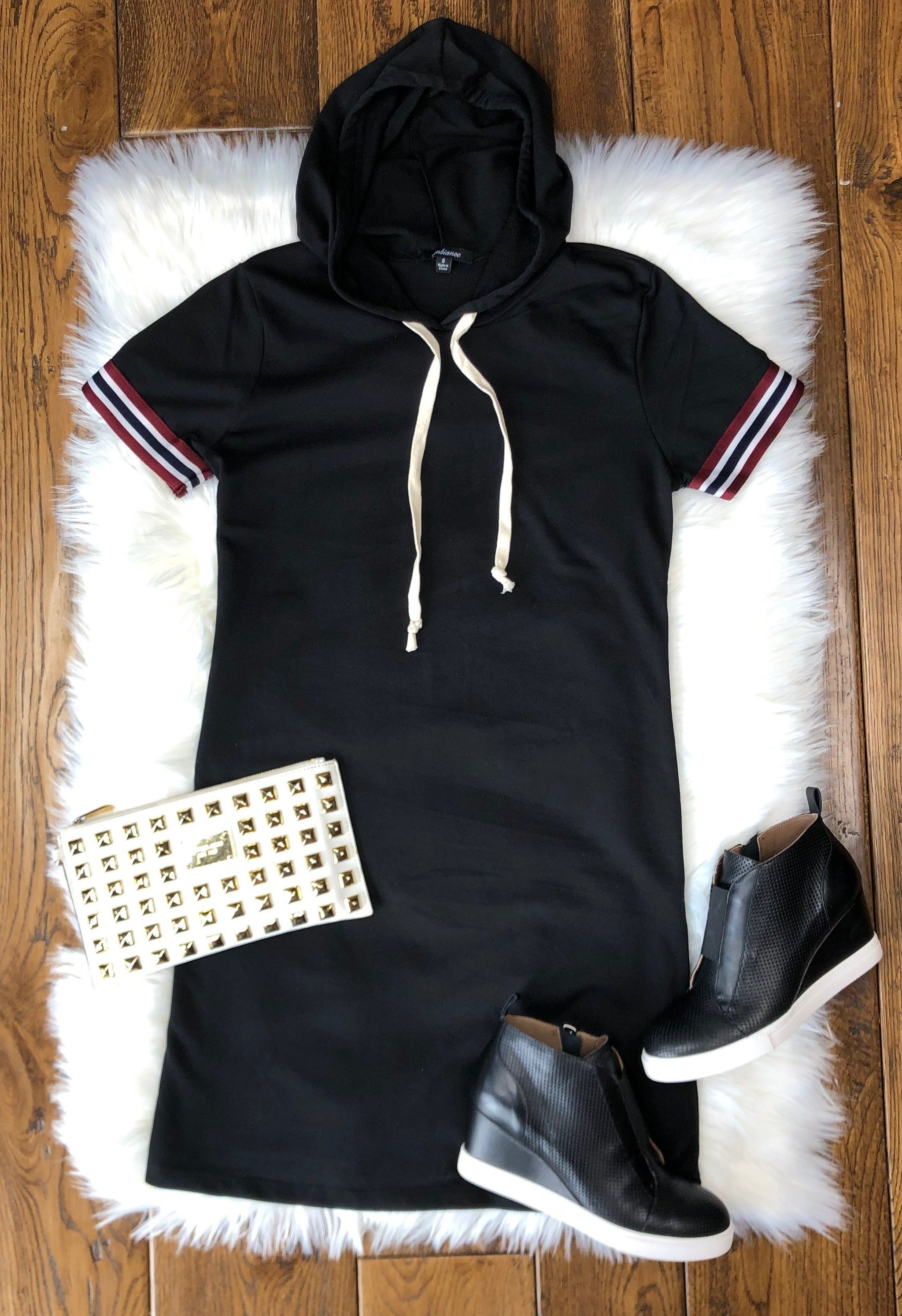 Sporty Spice Tunic Dress: Black