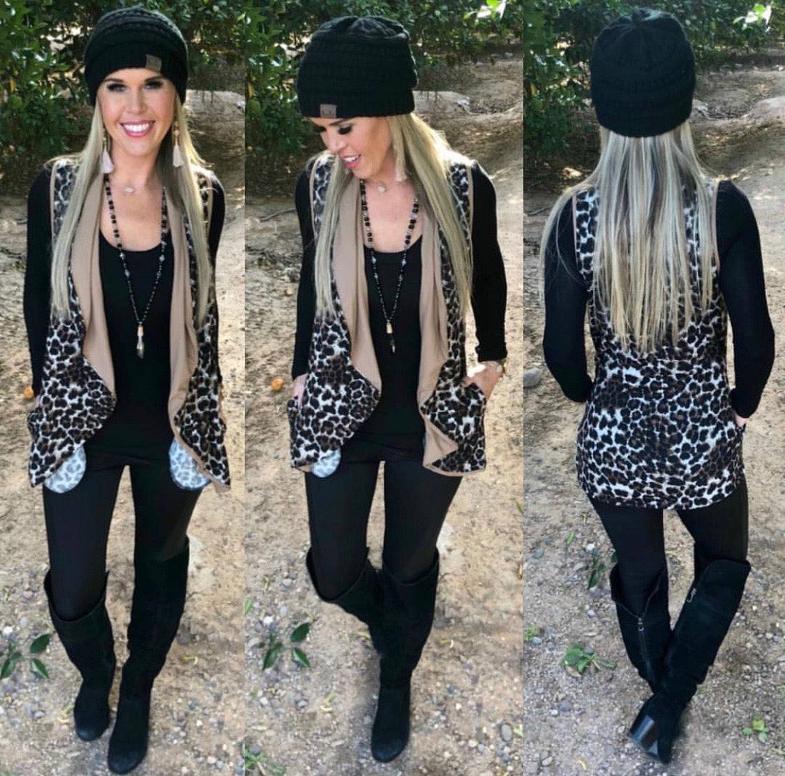 Leopard Vest with Pockets