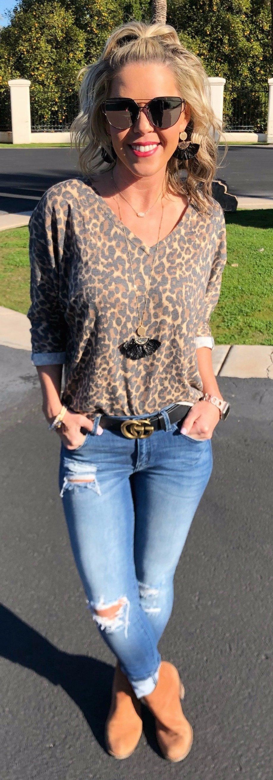 Loving Leopard Top
