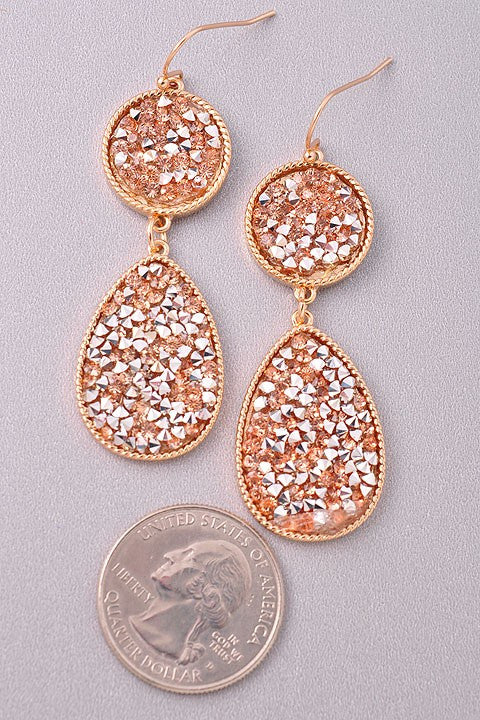 Dew Drops Rose Earrings