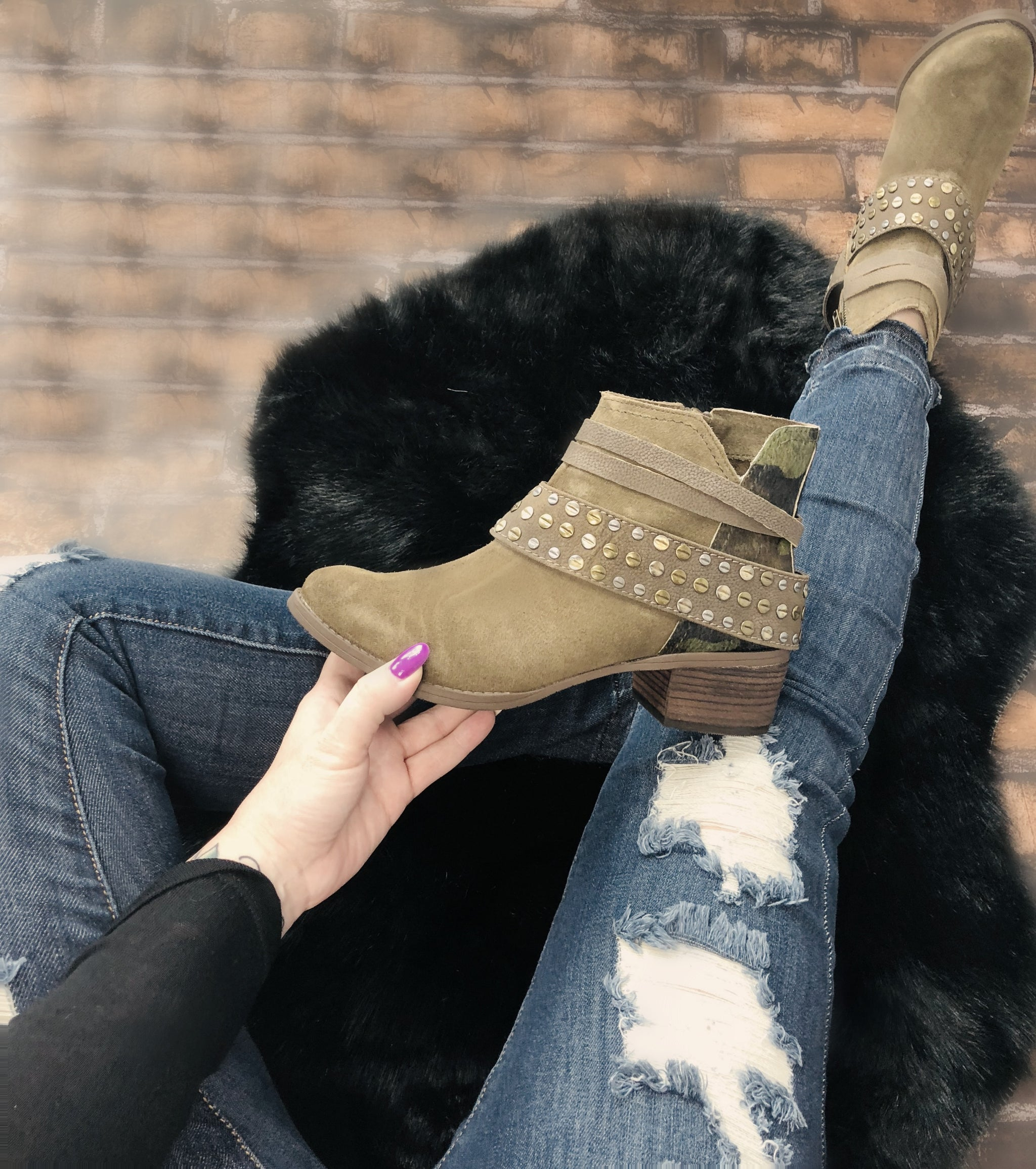 On the Move Camo Booties