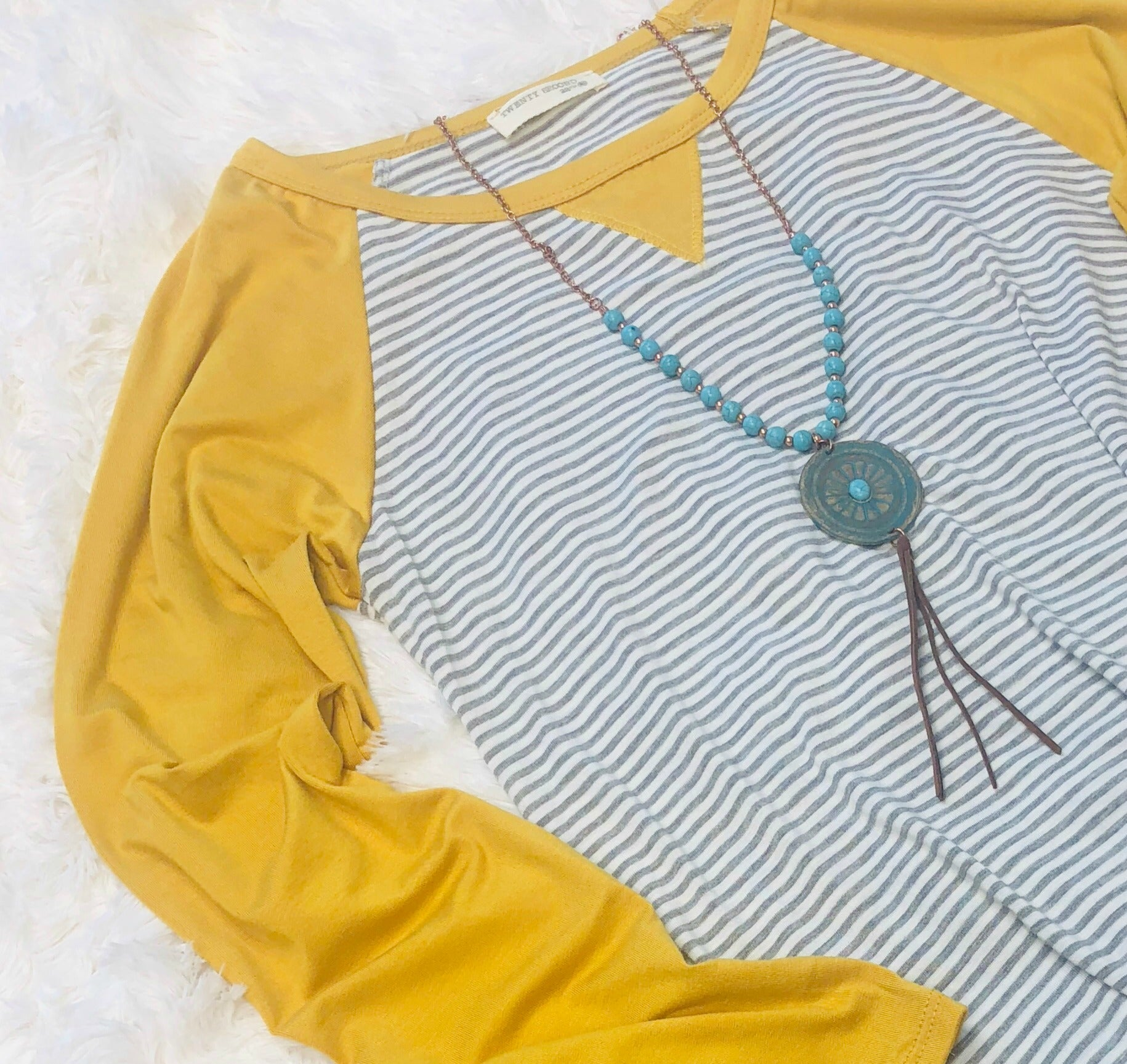 Classic Turquoise Tassel Necklace