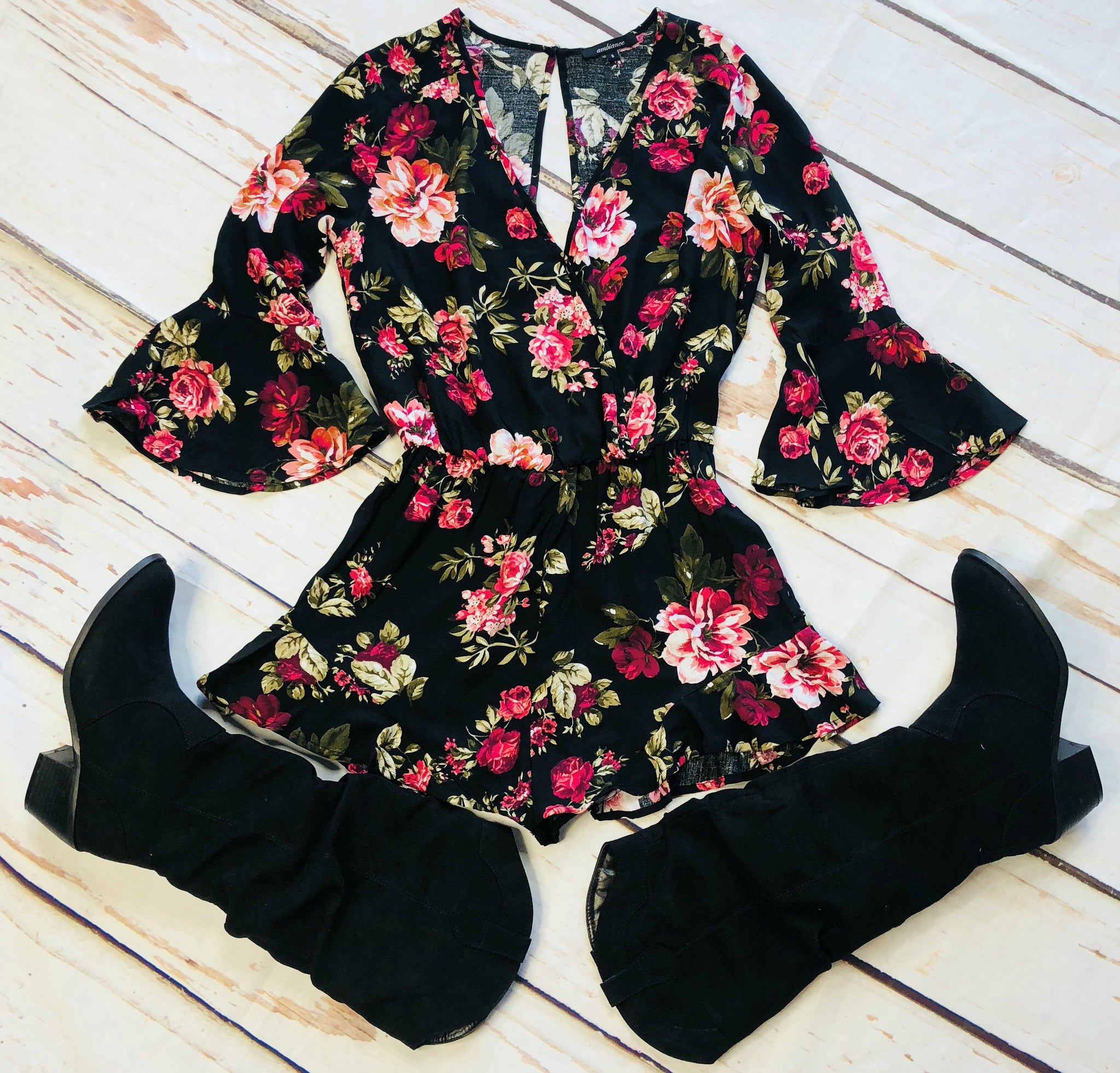 As it Happens Romper: Black