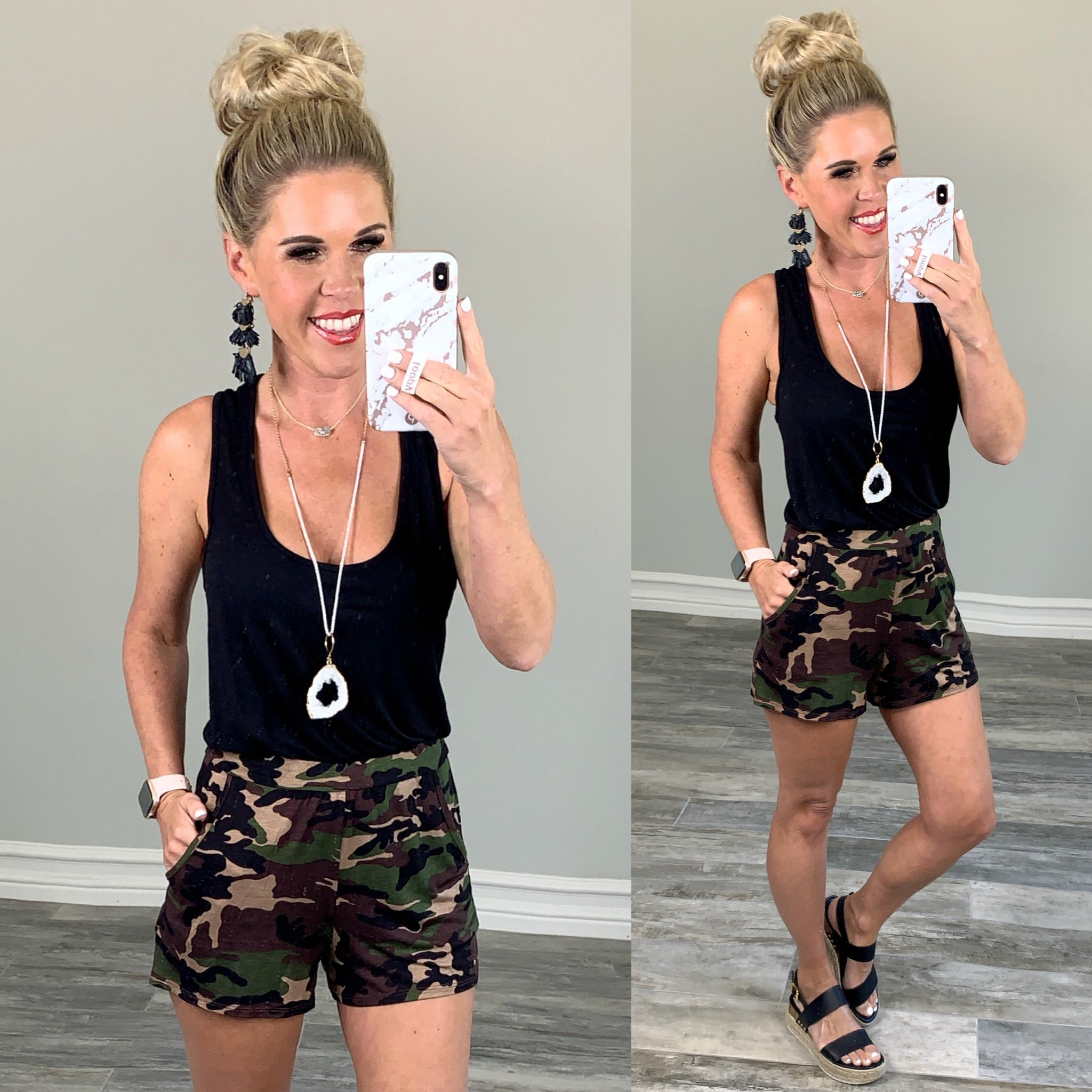Connect in Camo Romper