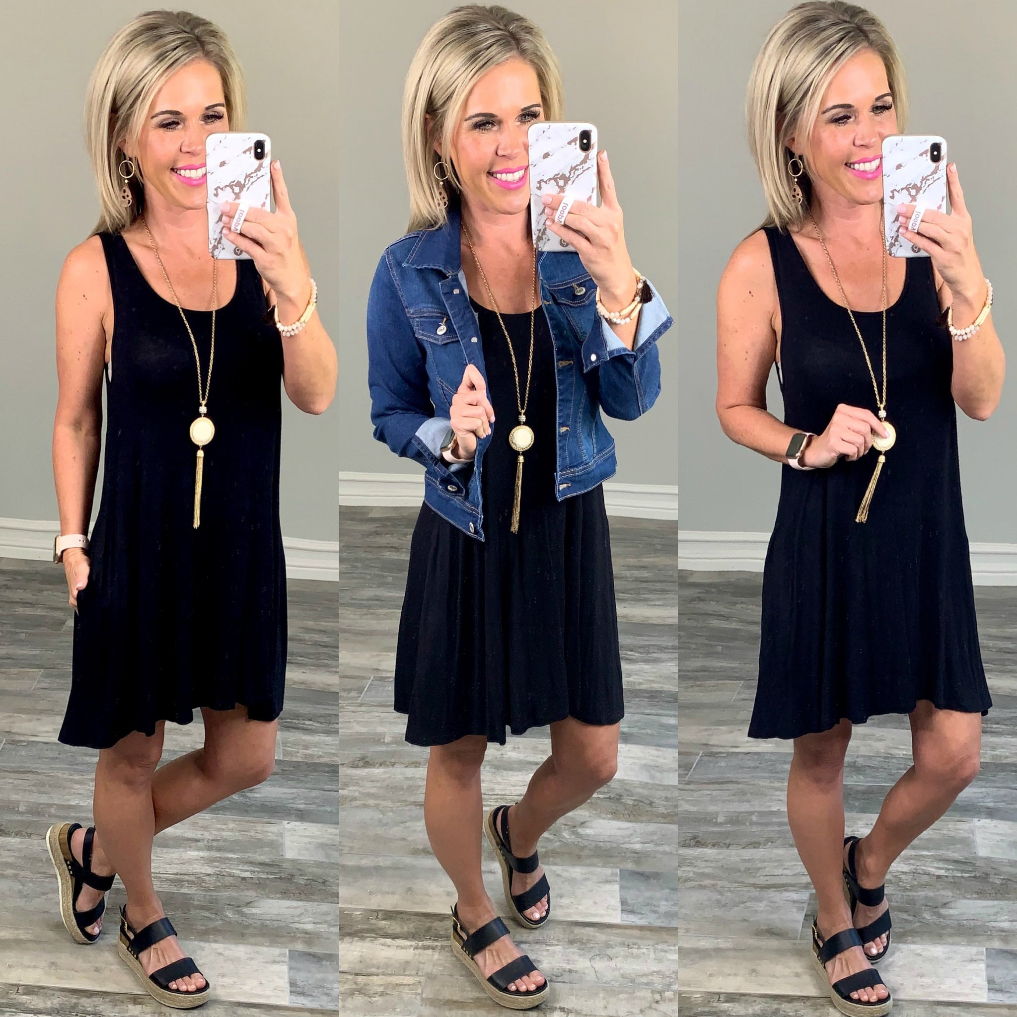 Black Pocket Dress