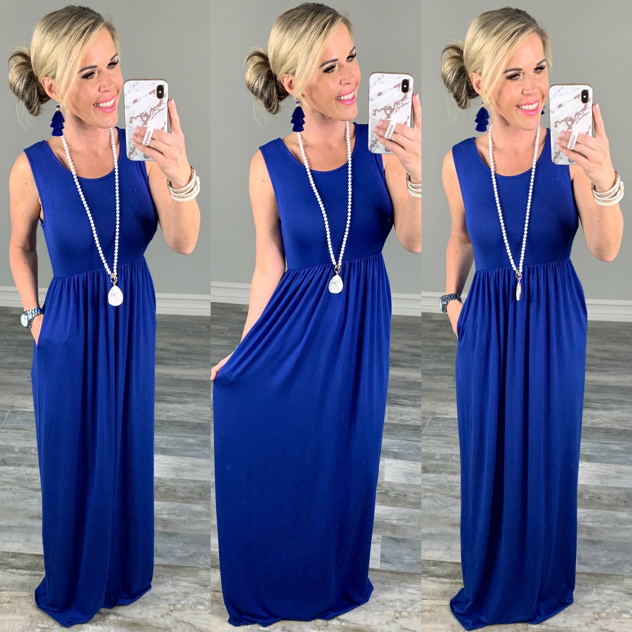 I'll Be By the Pool Maxi Dress - Royal