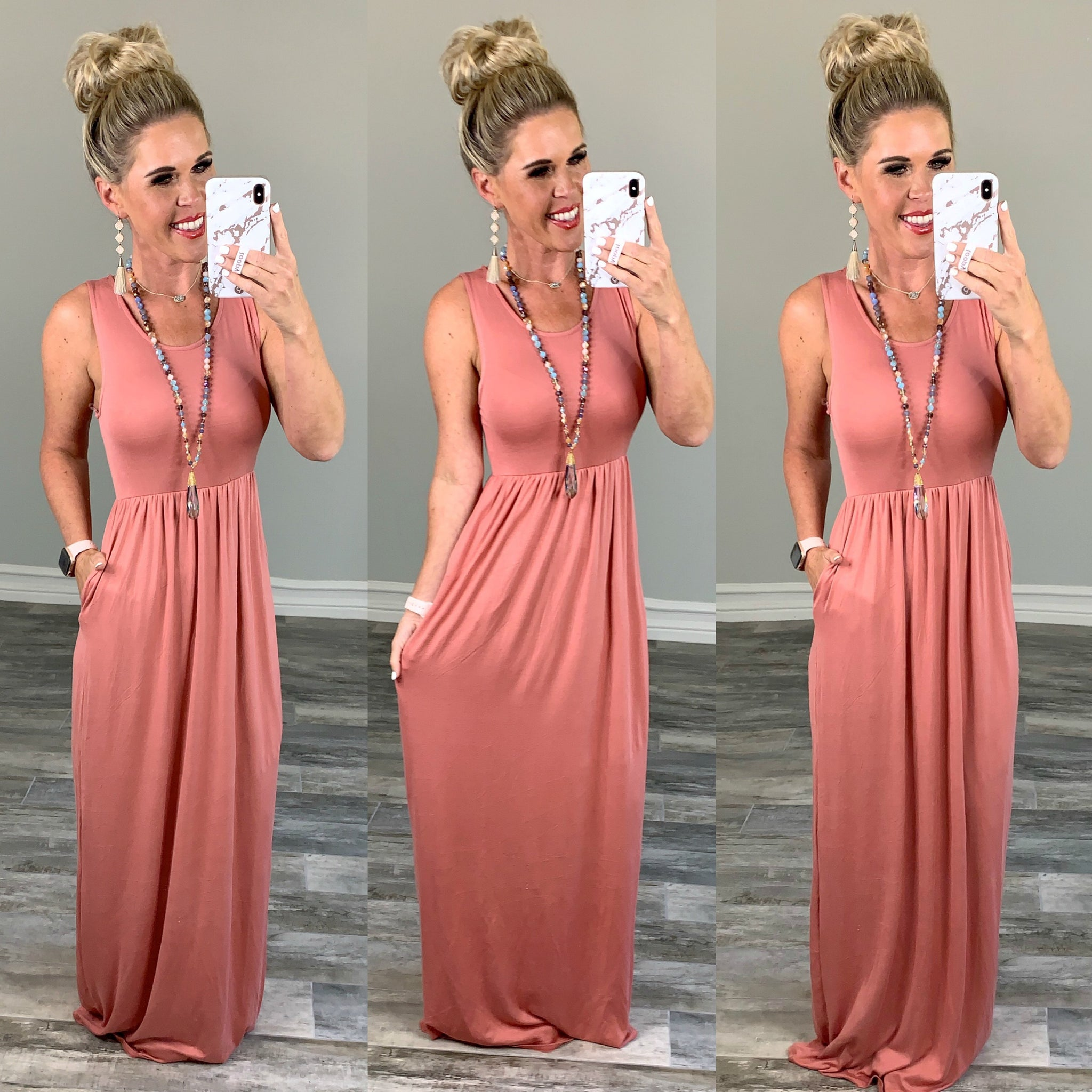 I'll Be By the Pool Maxi Dress - Peach