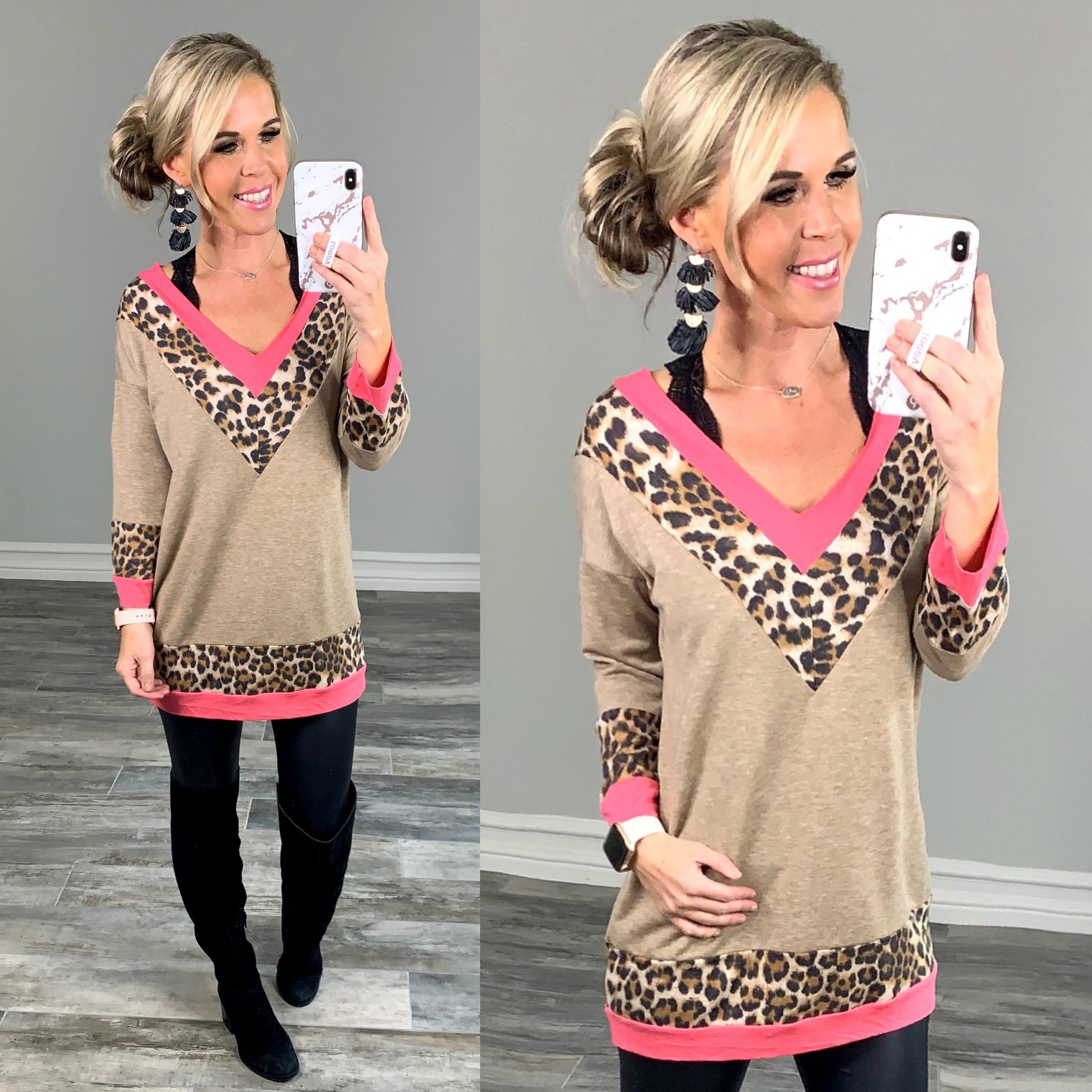 Bright Side Leopard Top