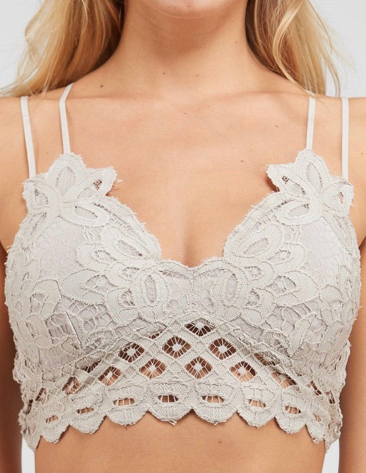 All Up To You Champagne Lace Bralette