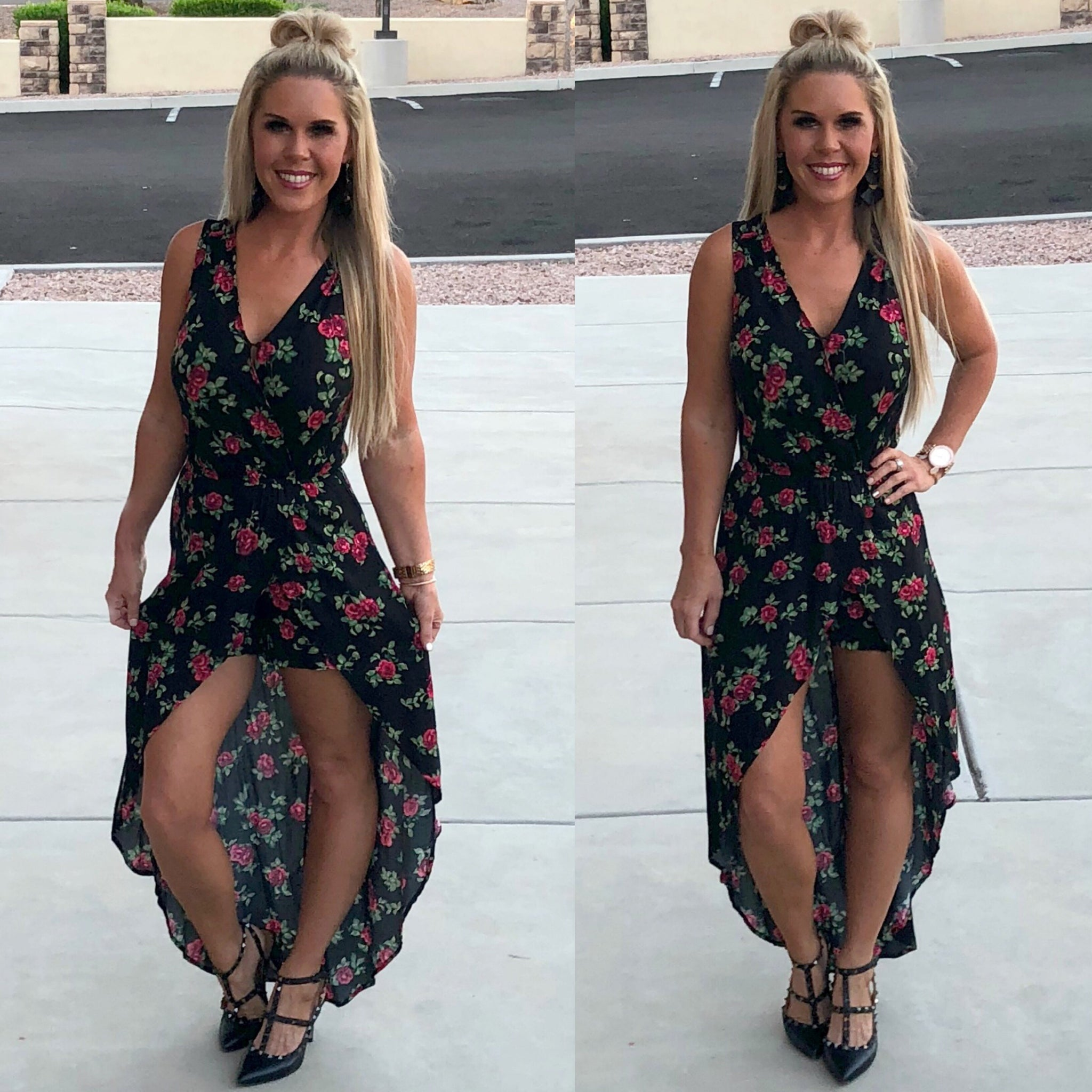 Dainty Darling Floral Maxi Romper