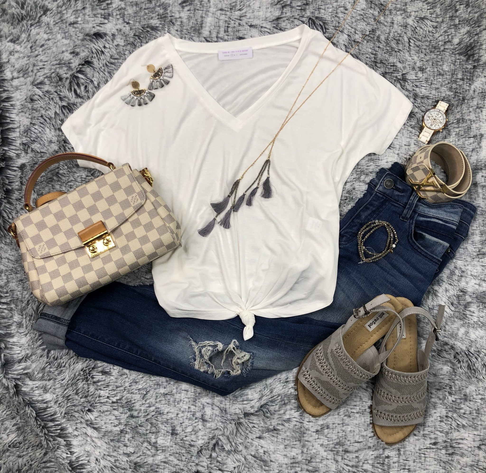 Get Knotted Top: White
